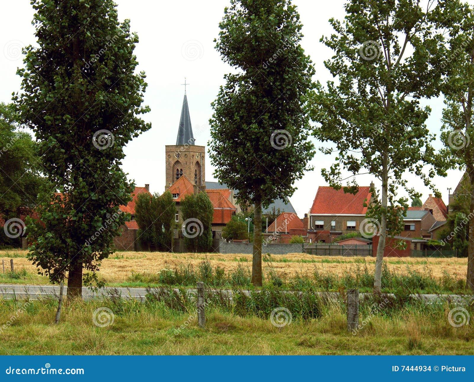 Dorf in Flandern, Belgien