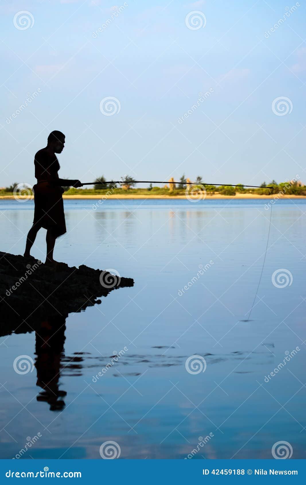 Dorf-Mann-Fischen