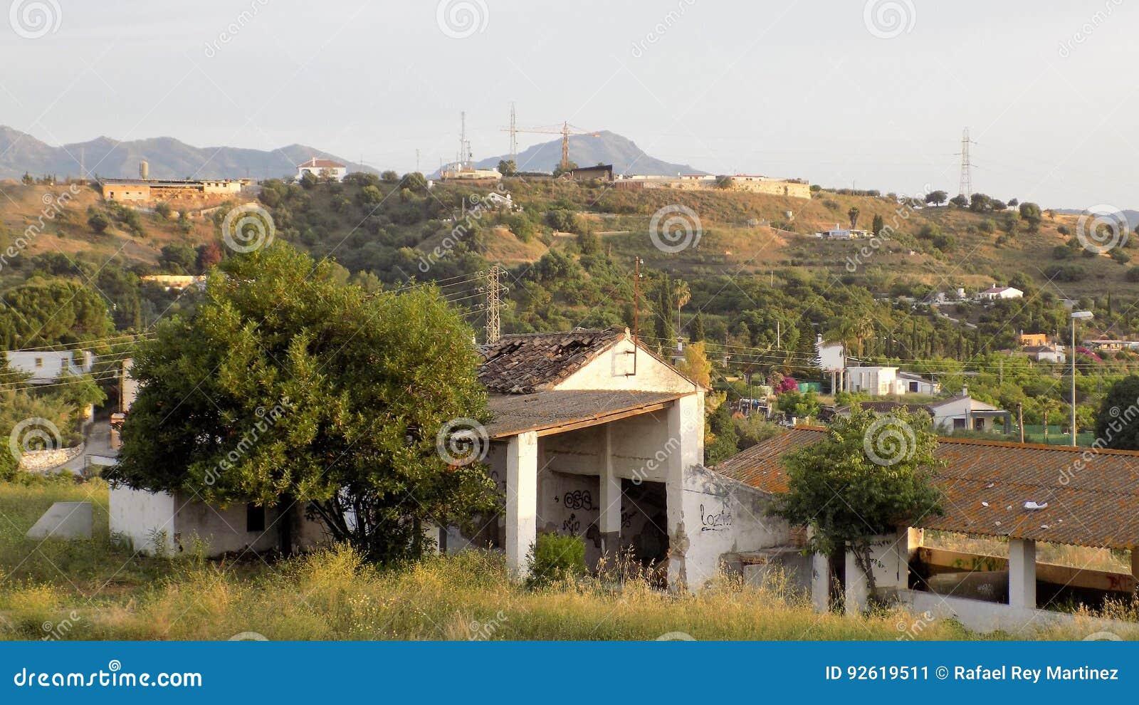 Dorf Ruiniert Haus Andalusien Spanien Europa Stockbild Bild Von