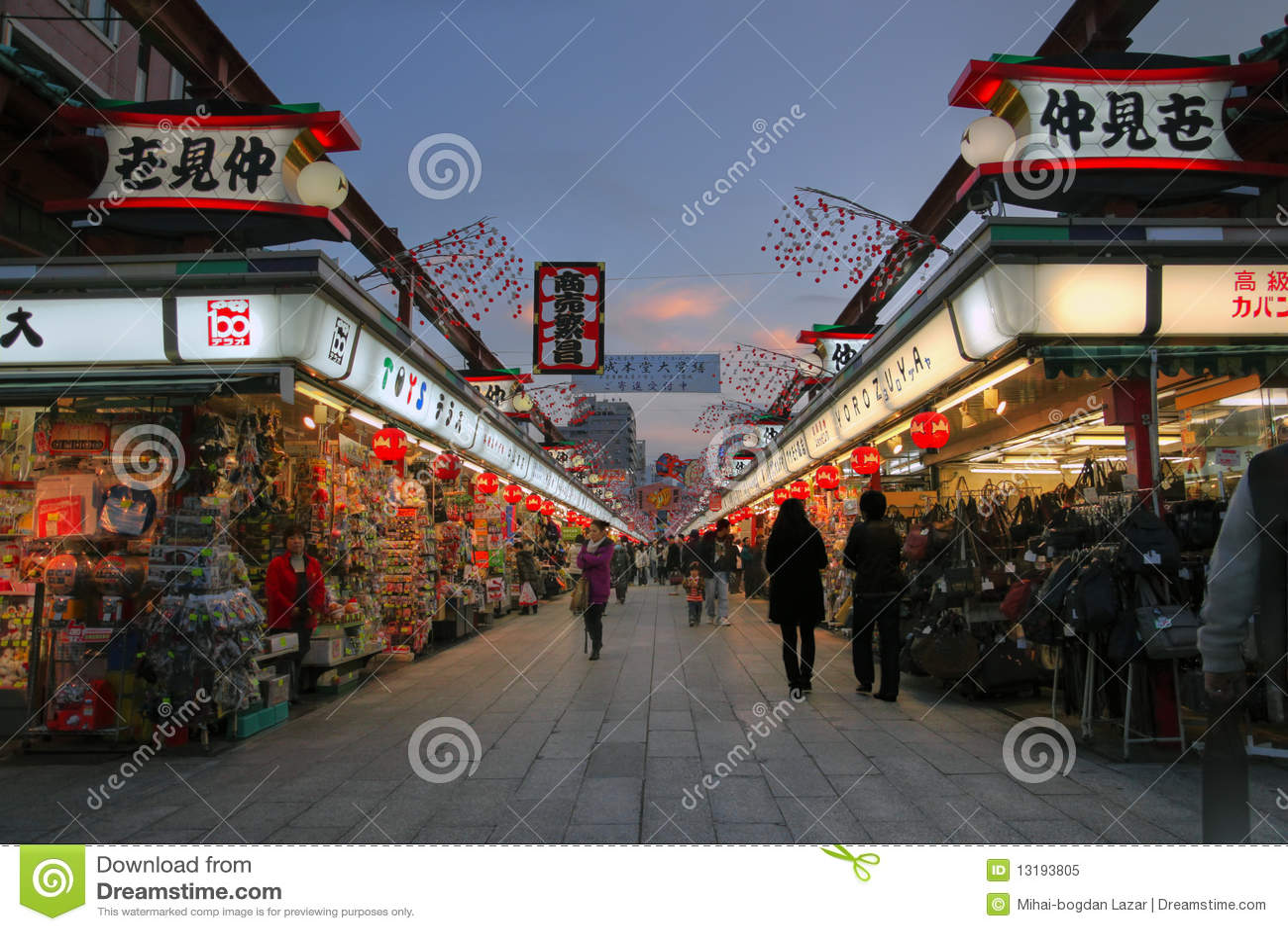 Dori van Nakamise, Asakusa, Tokyo, Japan