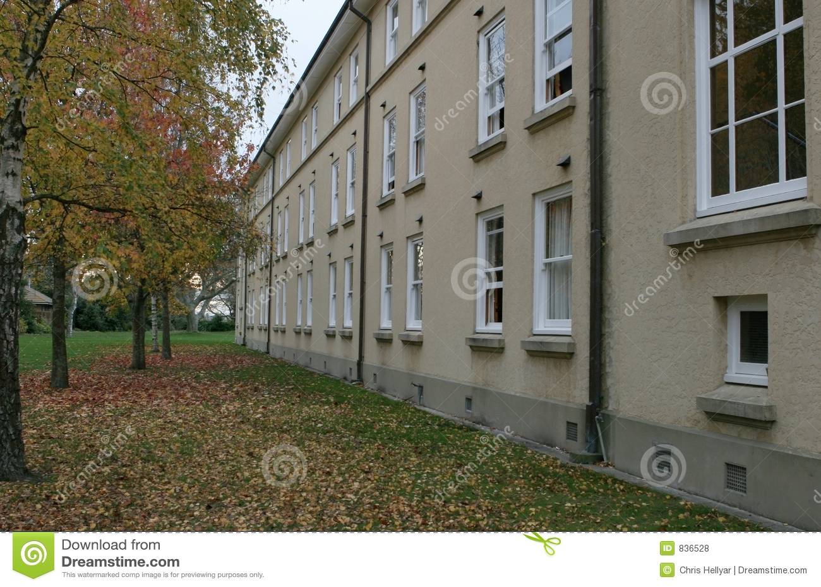 Dorm rooms in Autumn
