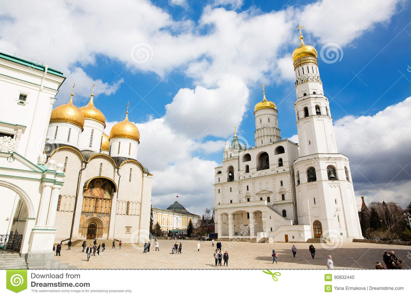 Dormition和伊冯的大教堂伟大的钟楼在克里姆林宫