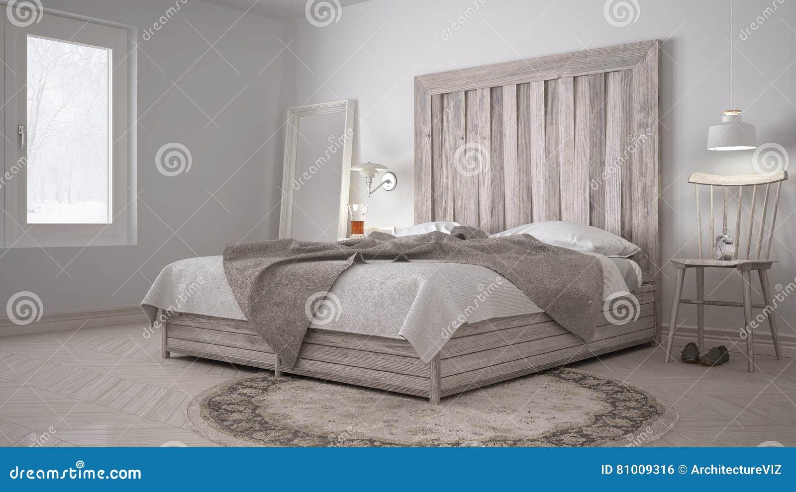 Dormitorio de diy cama con el cabecero de madera eco for Cabecero blanco madera