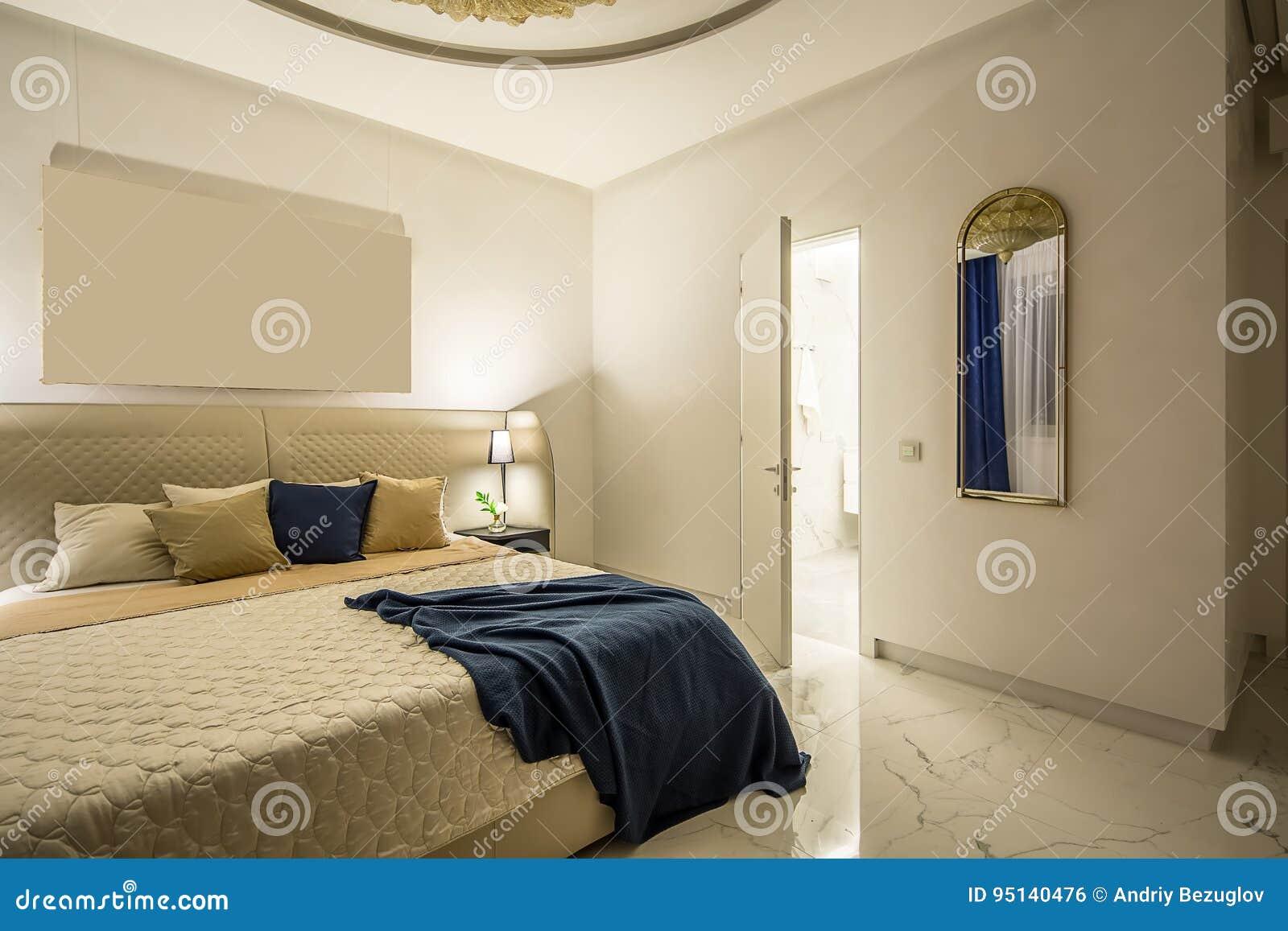 Dormitorio de lujo en estilo moderno