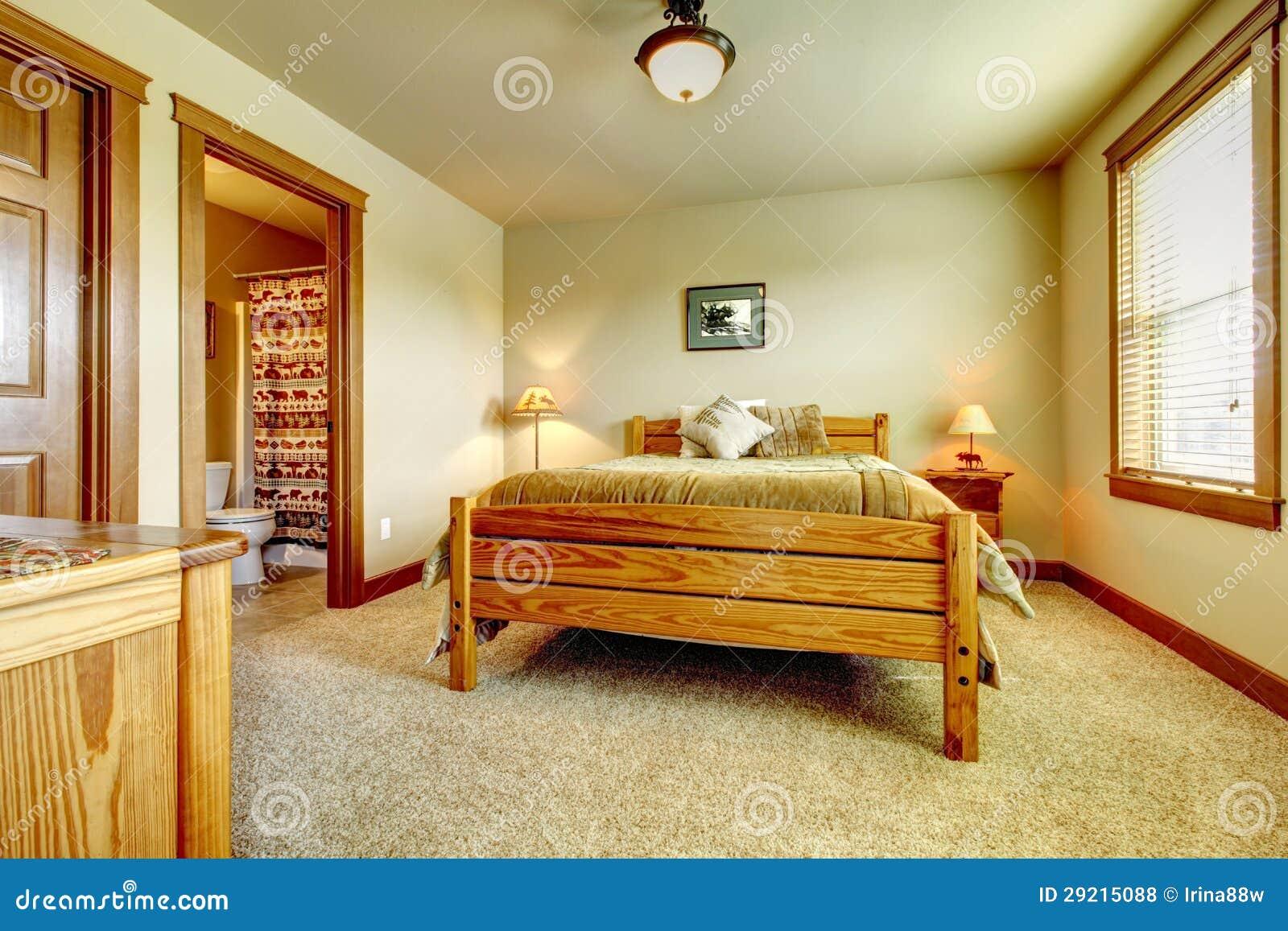 Dormitorio natural de la casa de la granja de la cabina - La casa de las alfombras ...