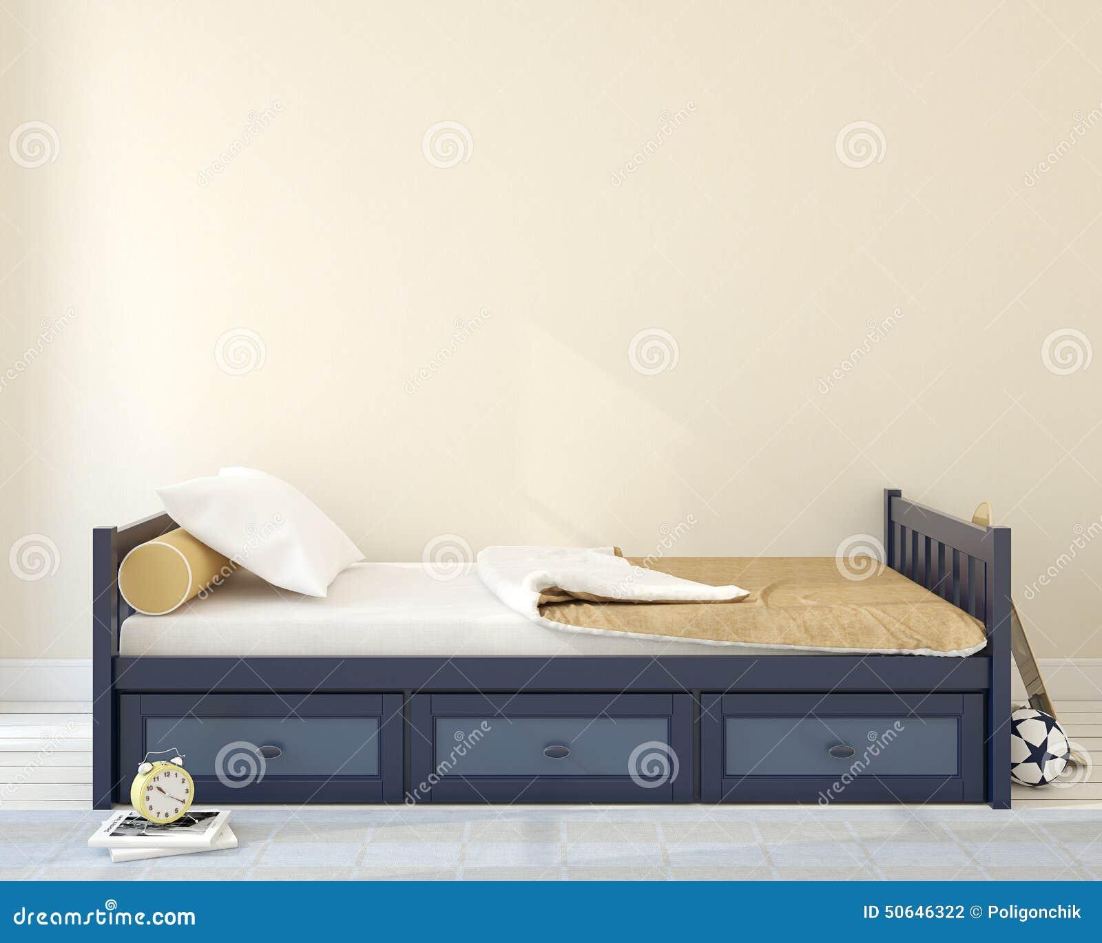 Dormitorio Para El Muchacho Stock de ilustración - Ilustración de ...