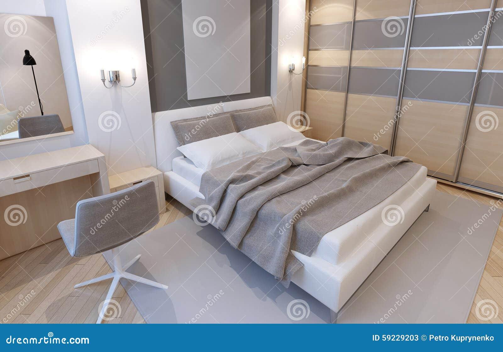 Dormitorio principal en colores claros