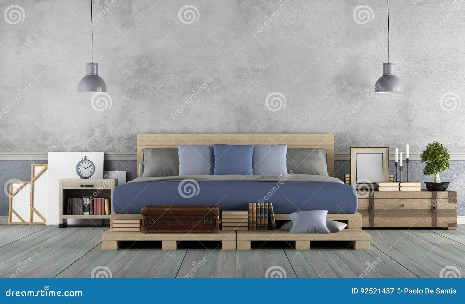 Dormitorios De Matrimonio Estilo Rustico : Dormitorio principal en estilo rústico stock de ilustración