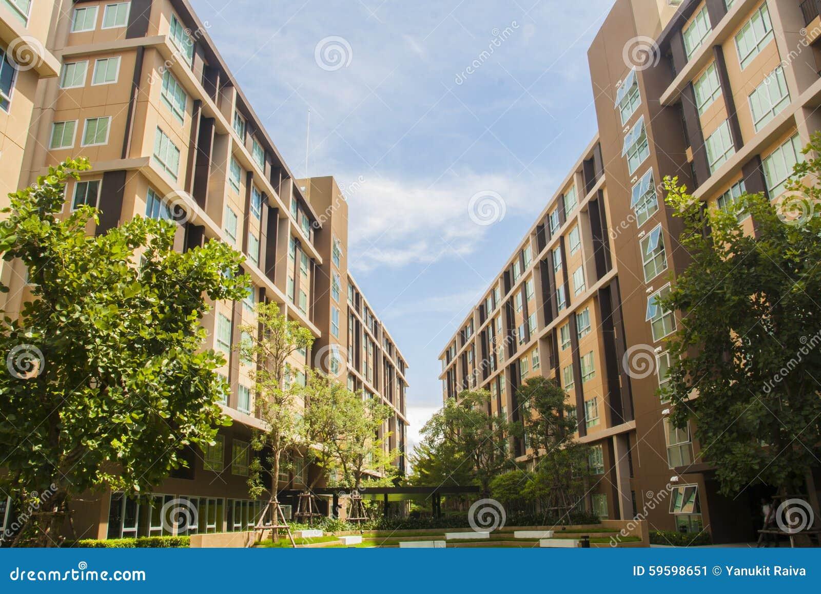 dormitory building perspective