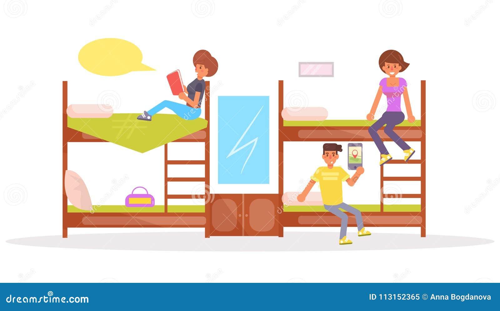 dormitory. vector. cartoon. isolated stock vector - illustration of  computer, room: 113152365  dreamstime.com