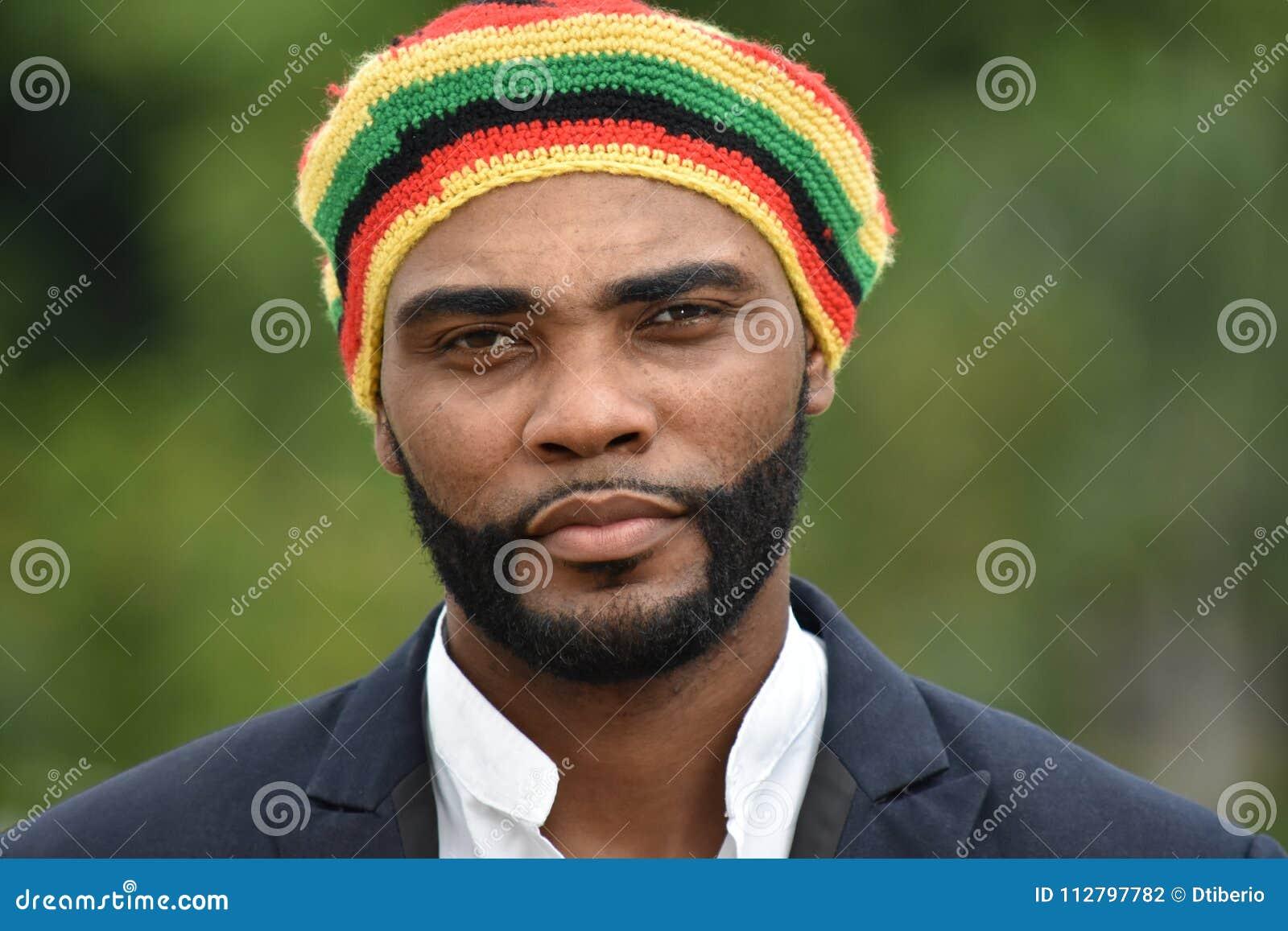 Dorosły Czarny Jamajski mężczyzna