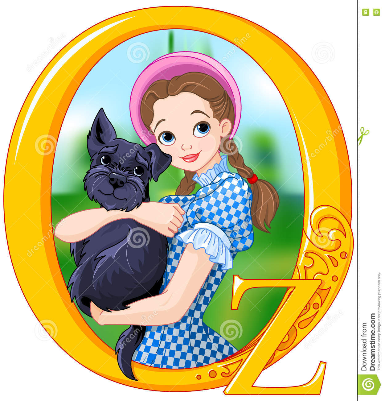 Dorothy and Toto stock vector. Illustration of clip, dorothy - 79401348