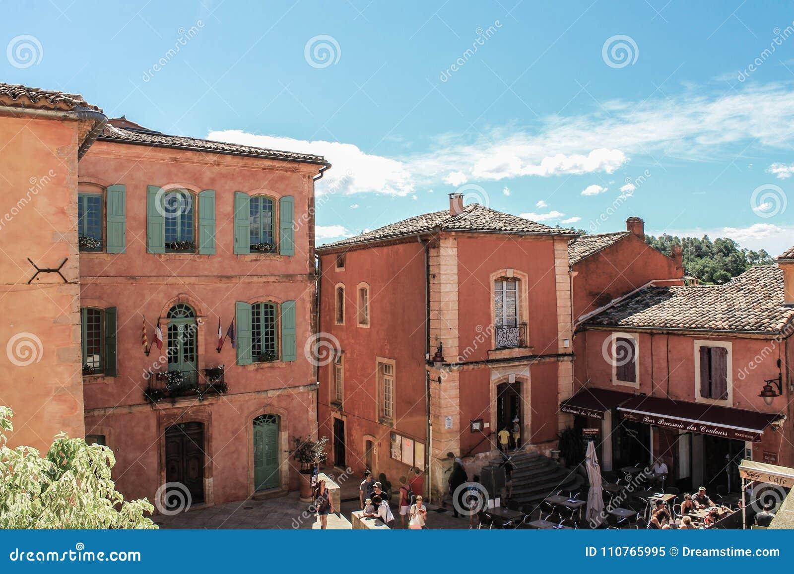 Dorp DE Roussillon, de Provence et Luberon
