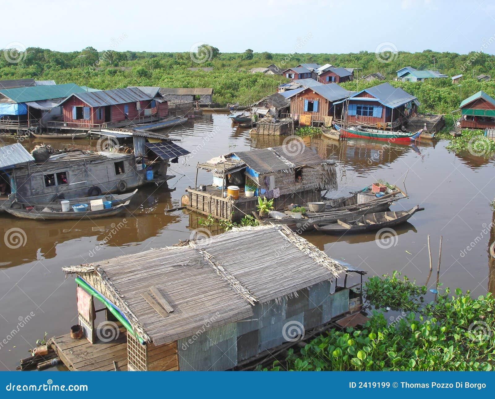 Dorp op een meer, Sap Tonle