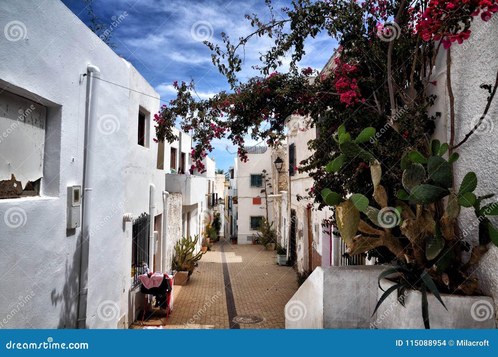 Dorp van Nijar, de provincie van Almeria, Andalusia, Spanje