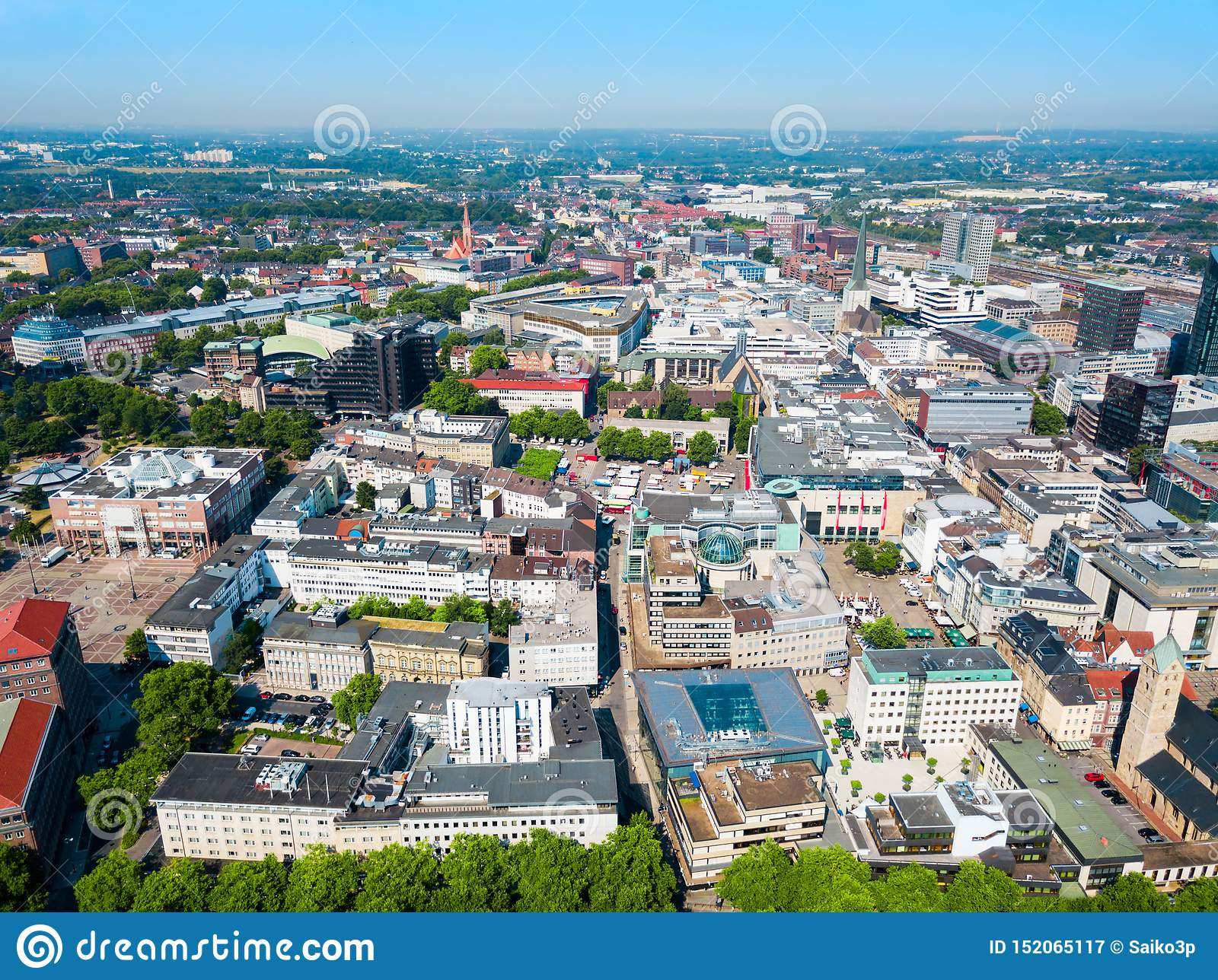 Dortmund City Centre Aerial View Stock Image - Image of area, architecture:  152065117