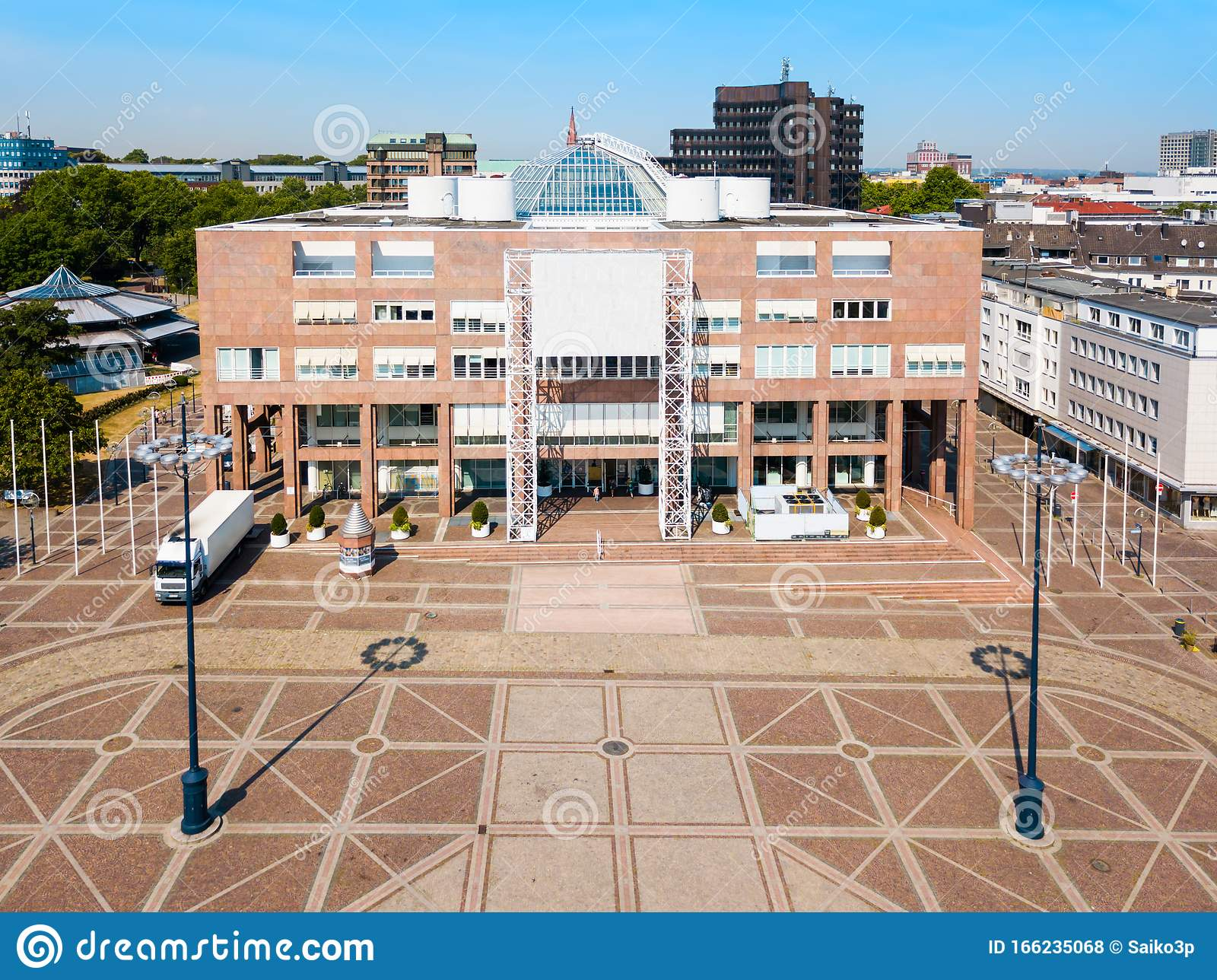 Dortmund City Centre Aerial View Stock Photo - Image of travel,  architecture: 166235068