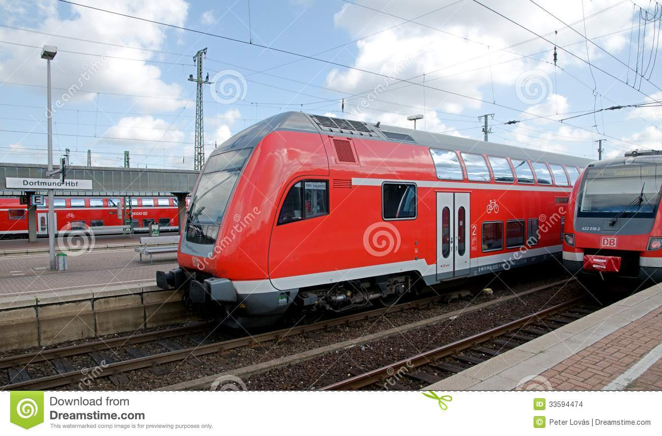dortmund deutsche bahn editorial stock image image of train 33594474. Black Bedroom Furniture Sets. Home Design Ideas
