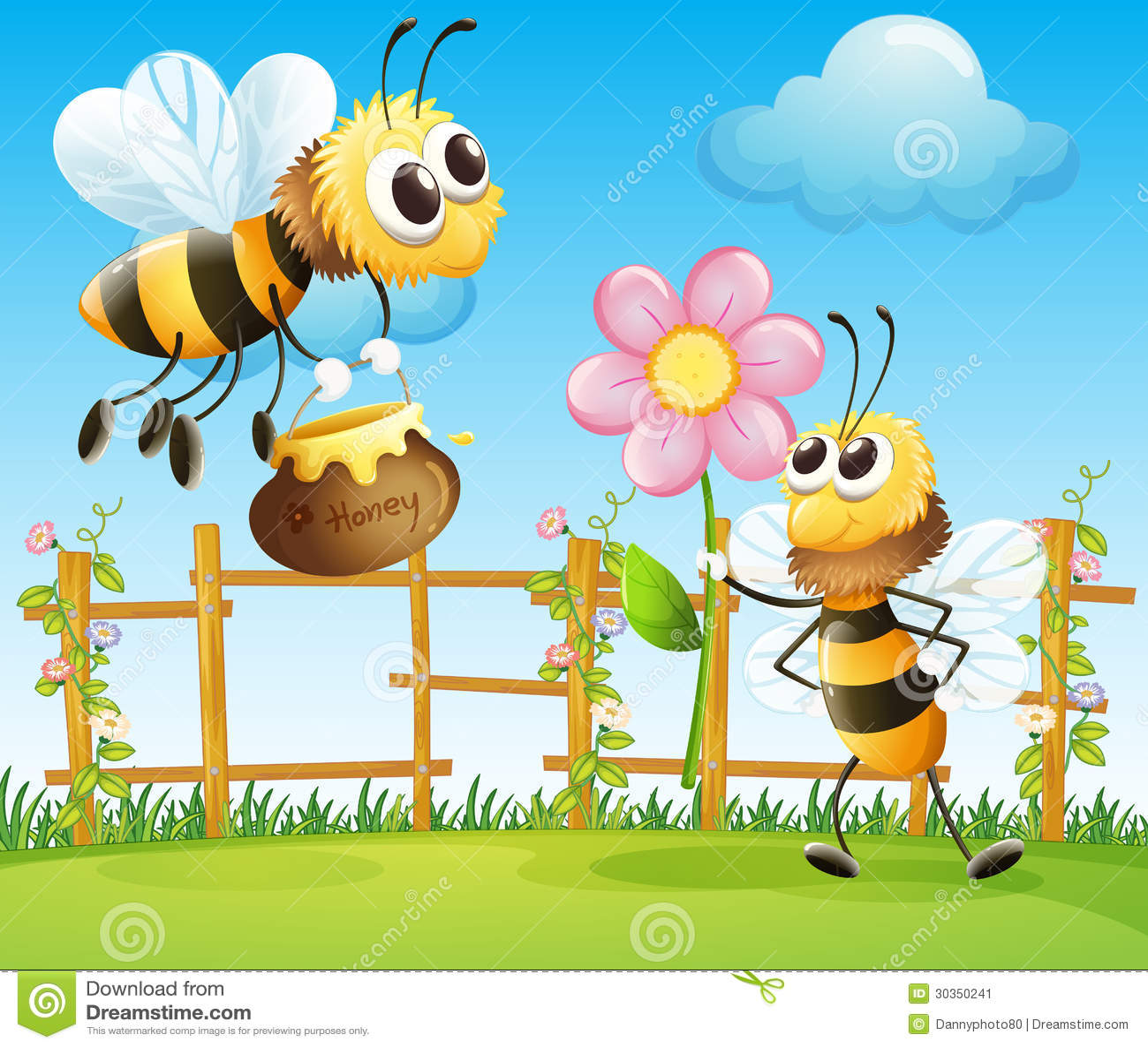Dos abejas grandes en el jard n imagen de archivo imagen for Ahuyentar abejas jardin