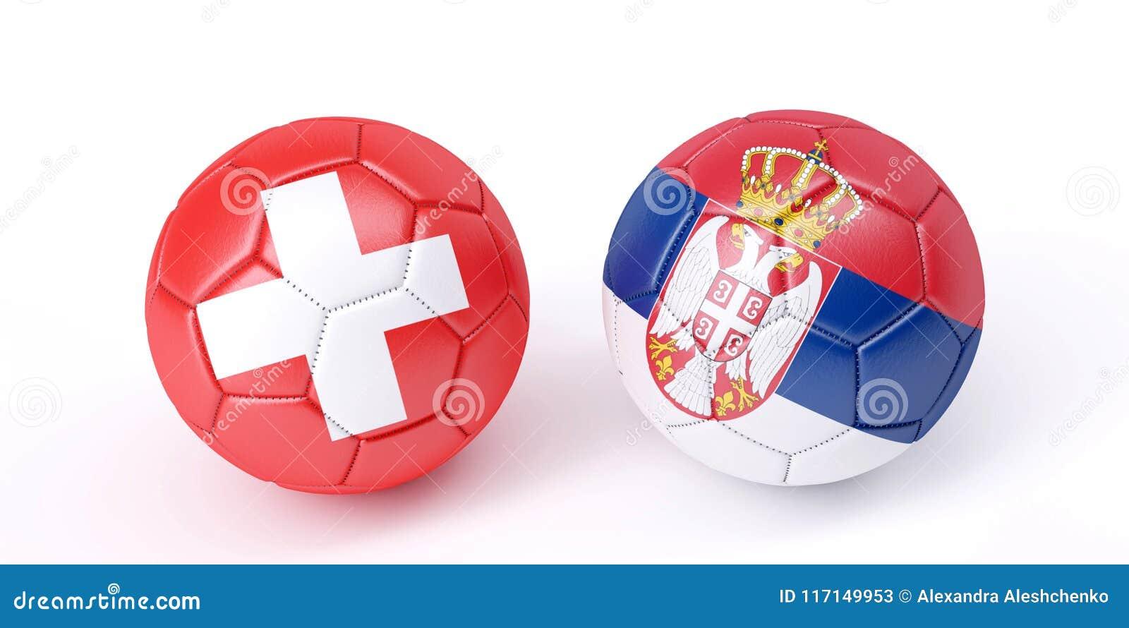 Dos Balones De Fútbol En Colores De Las Banderas Stock de ... dfdb76d4d5336