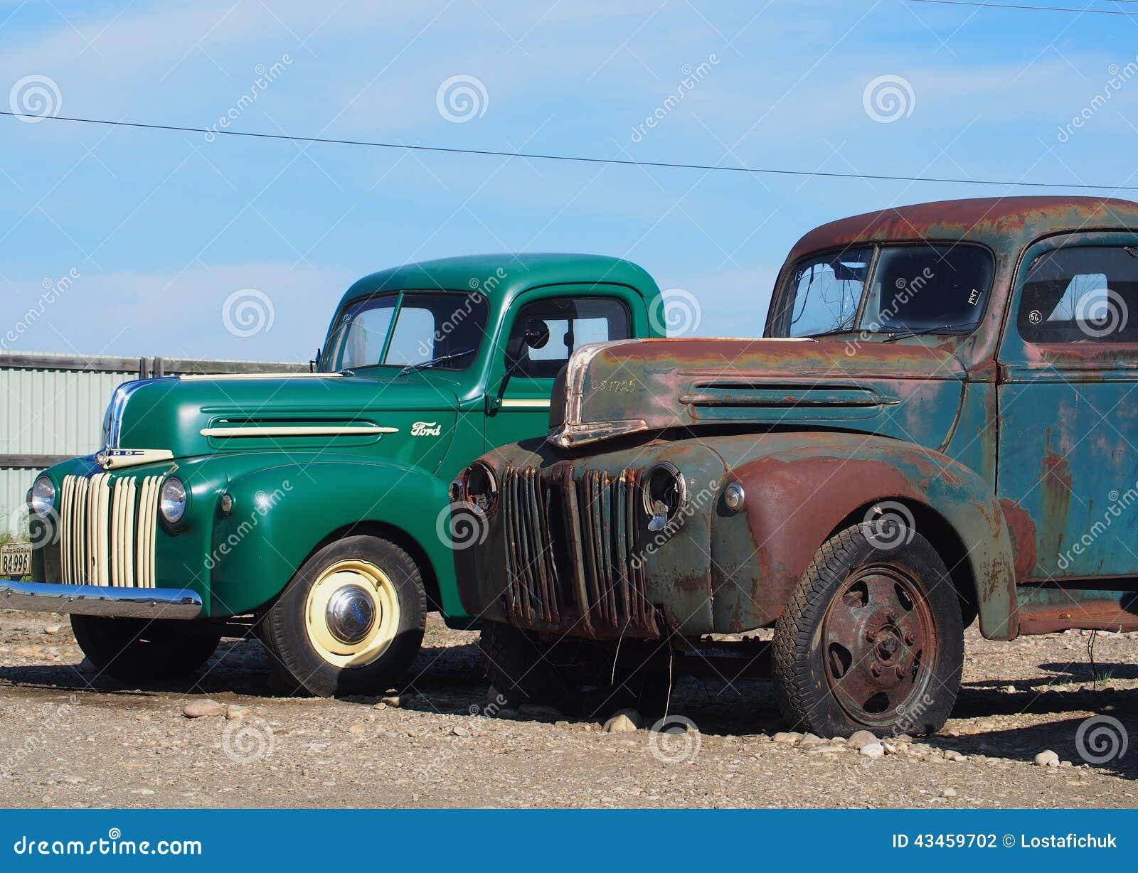 Vintage viejos camiones viejos