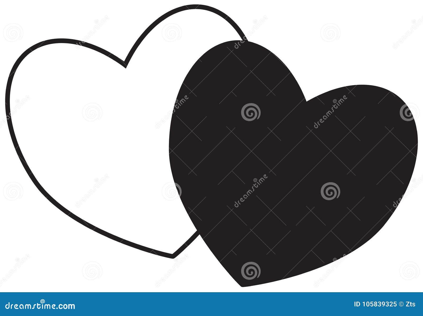 Dos corazones Concepto para el amor, pasión, tarjeta del día de San Valentín,