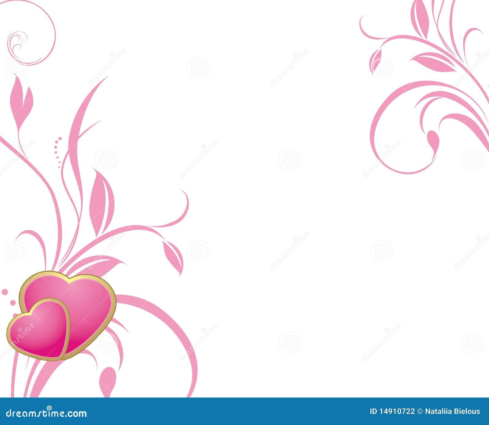 Dos corazones rosados con las puntillas decorativas - Fotos decorativas ...