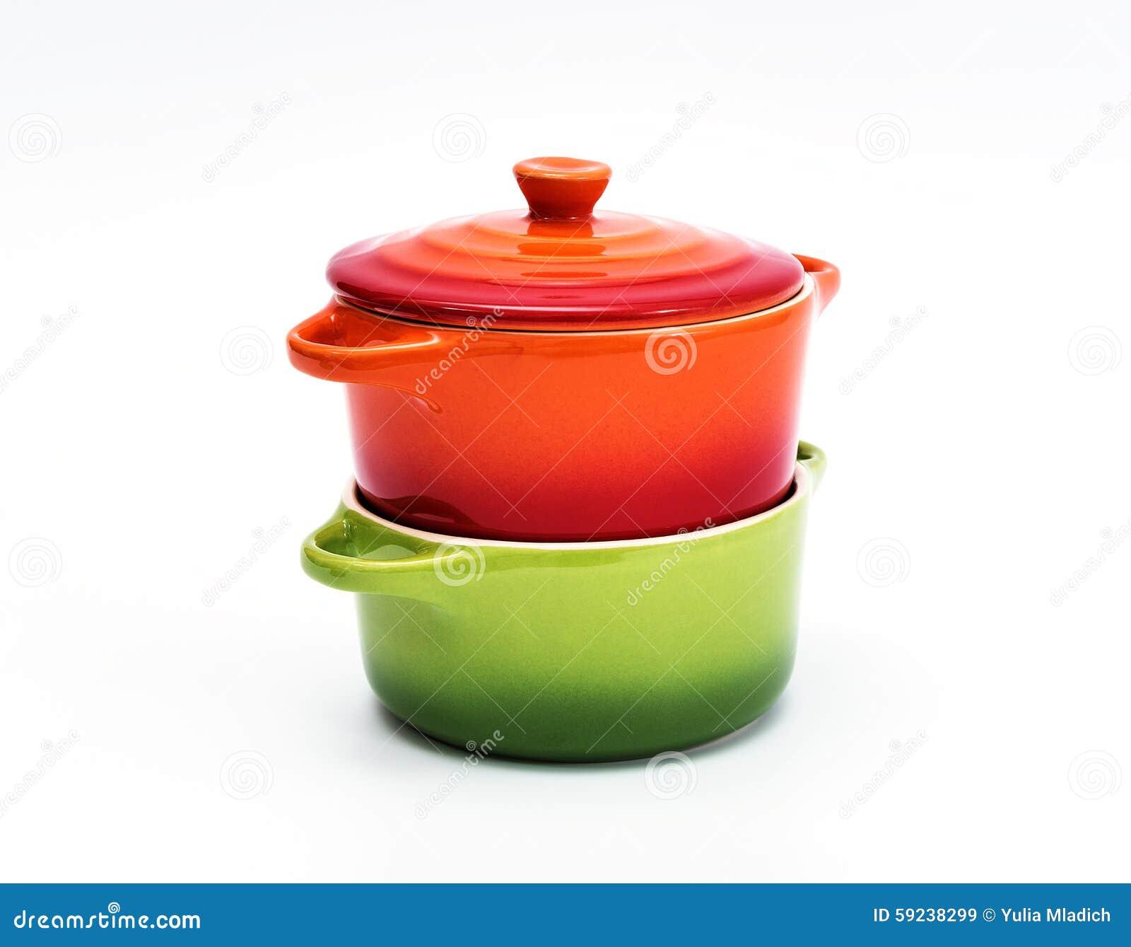 Dos crisoles de cerámica