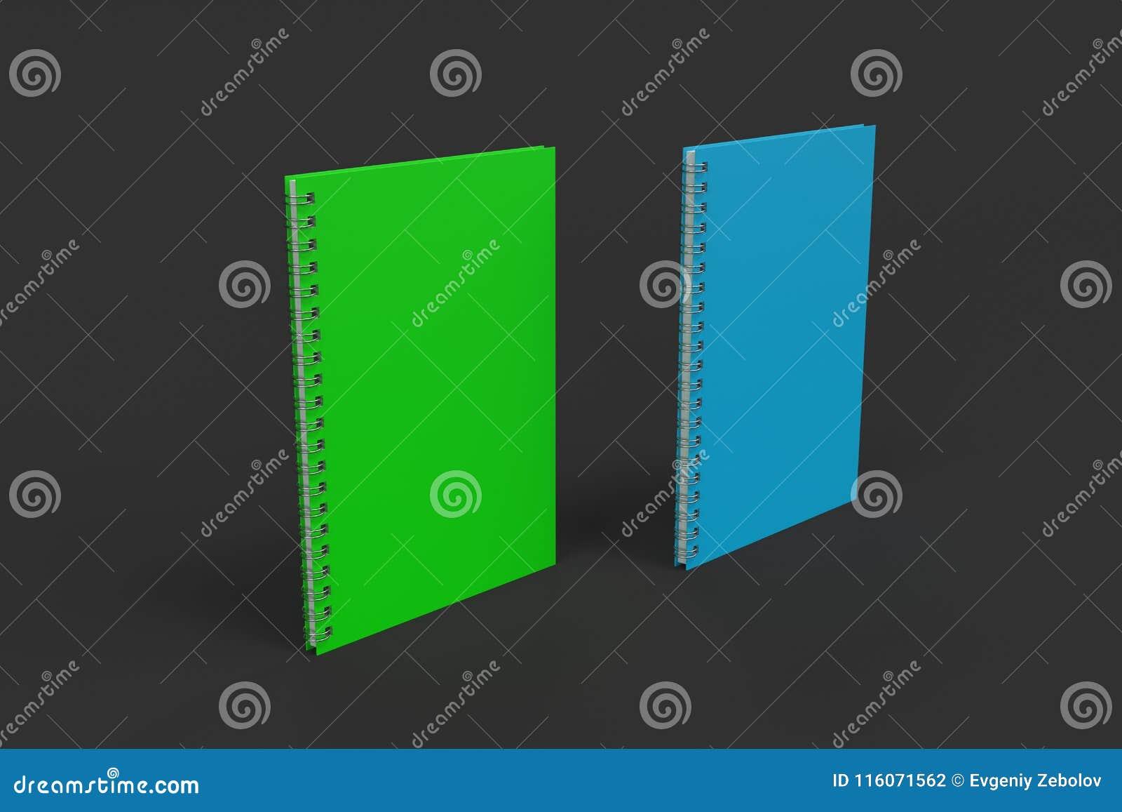 Dos cuadernos con espiral - limite en fondo negro