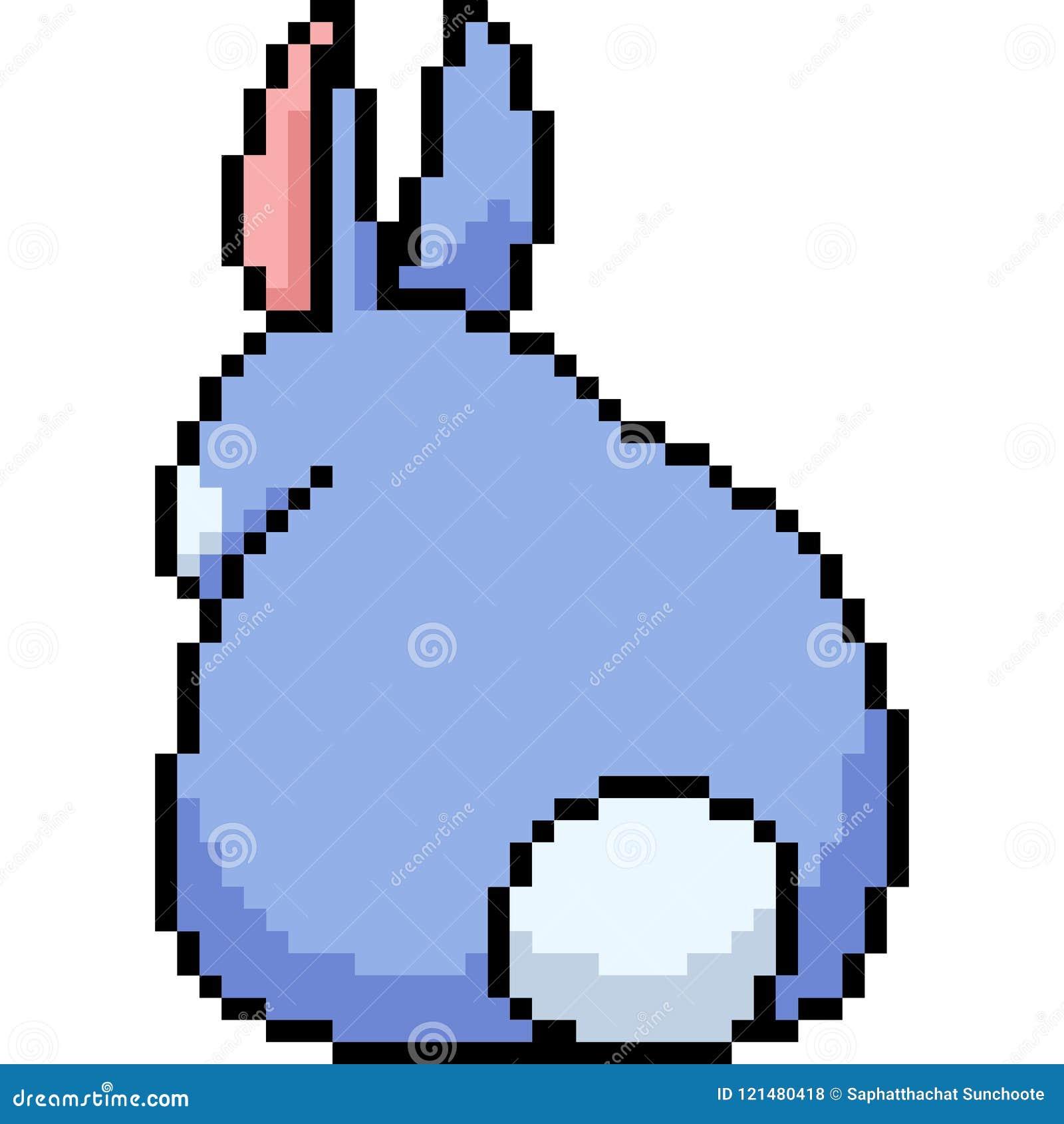Dos De Lapin Dart De Pixel De Vecteur Illustration De