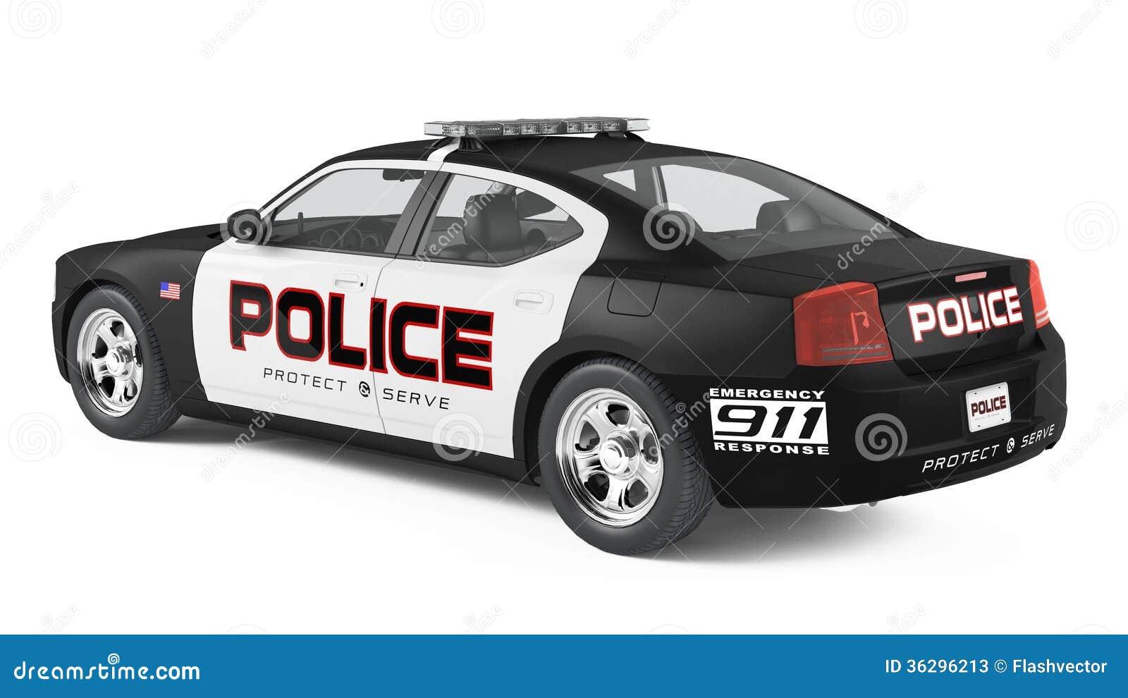 dos de voiture de police sport et style moderne illustration stock image 36296213. Black Bedroom Furniture Sets. Home Design Ideas
