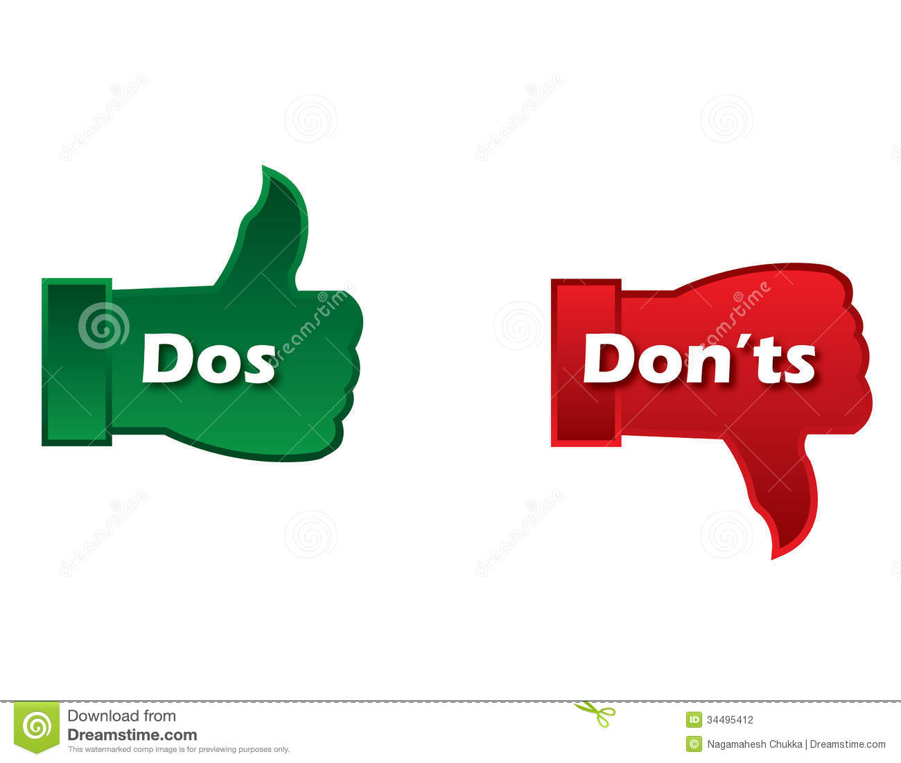 gallery for > clipart interview do and don ts dos and donts