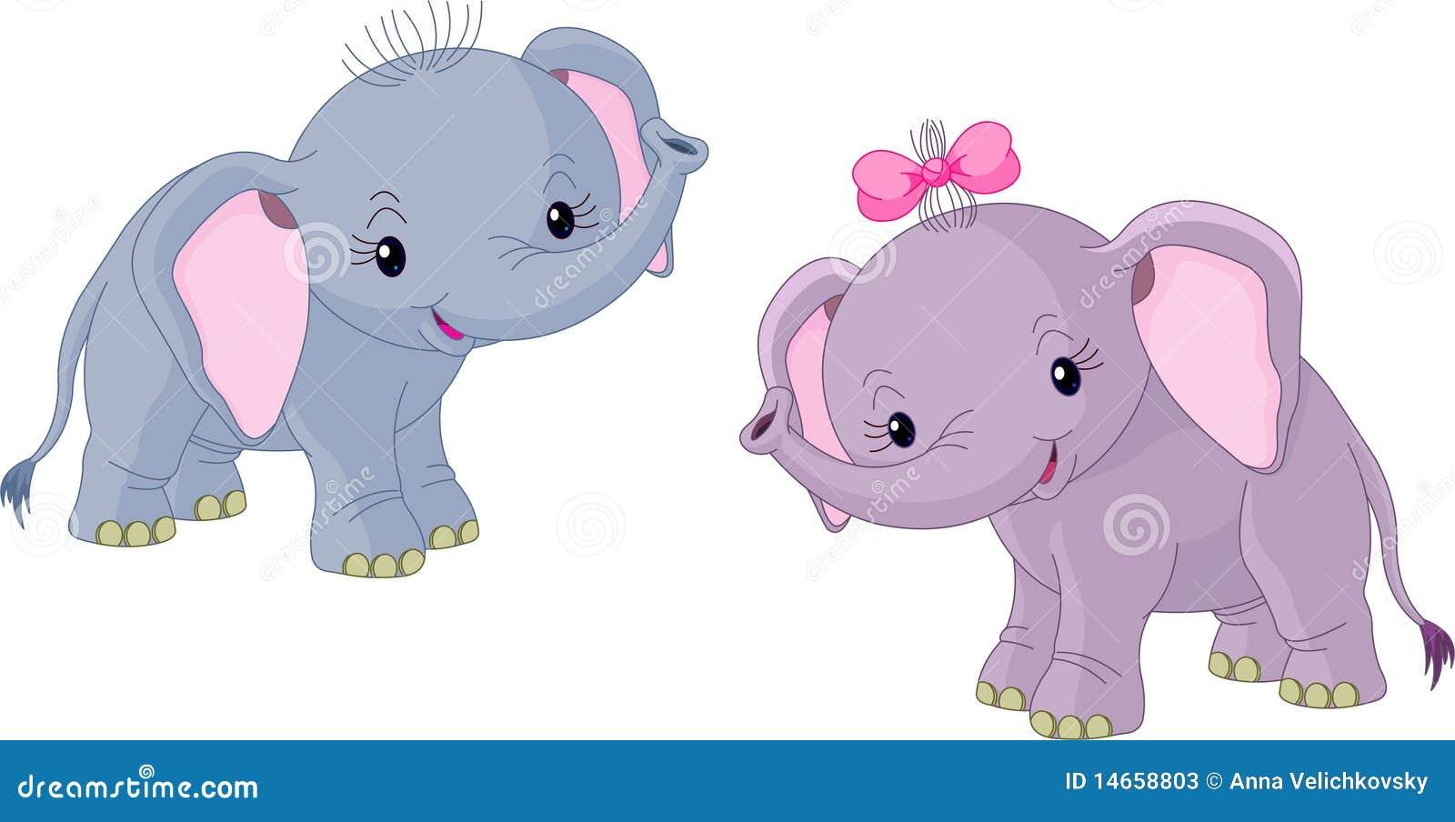 Dos elefantes de los beb s fotos de archivo imagen 14658803 - Fotos de elefantes bebes ...