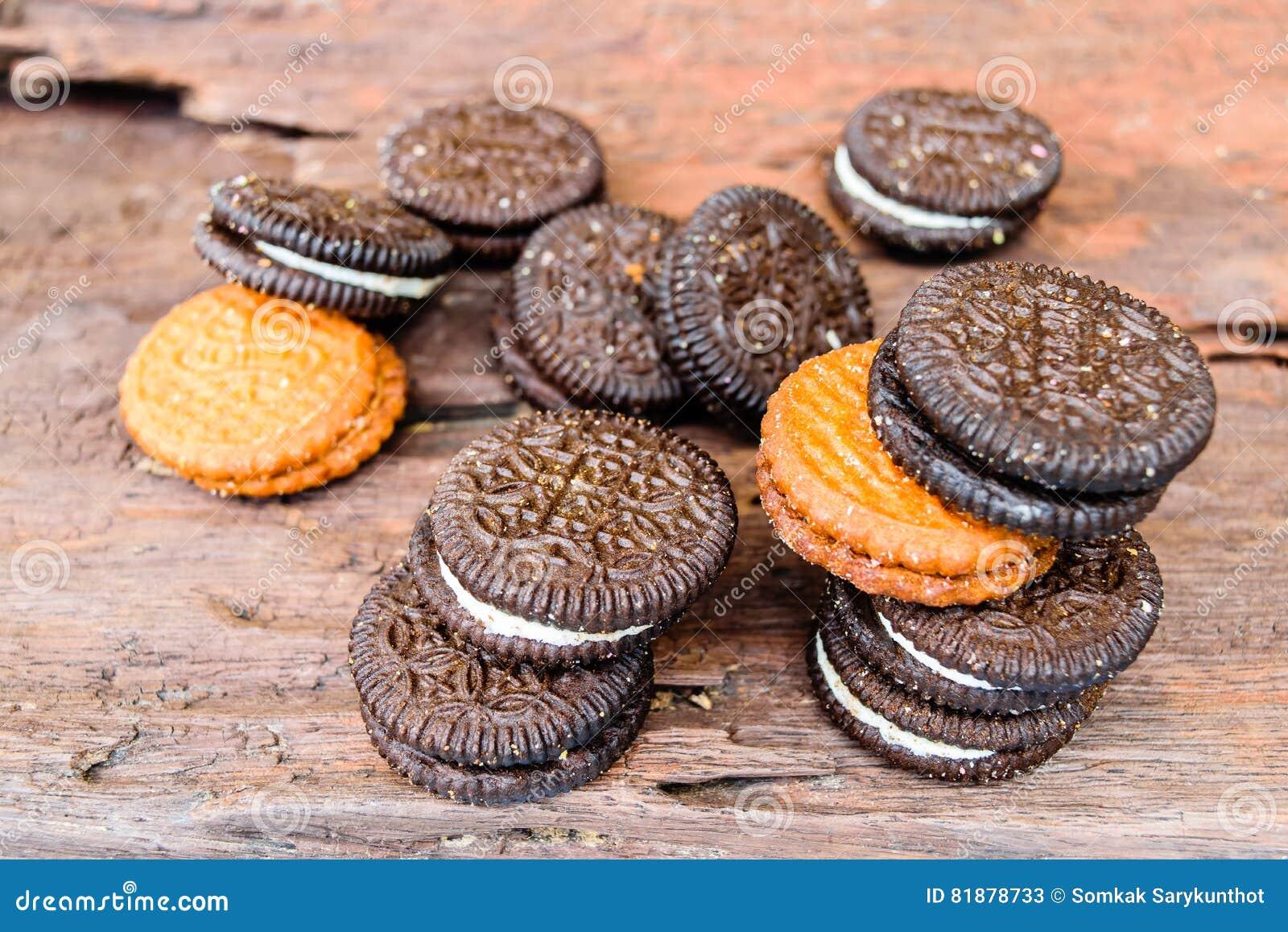 Dos et brun de crème de biscuits