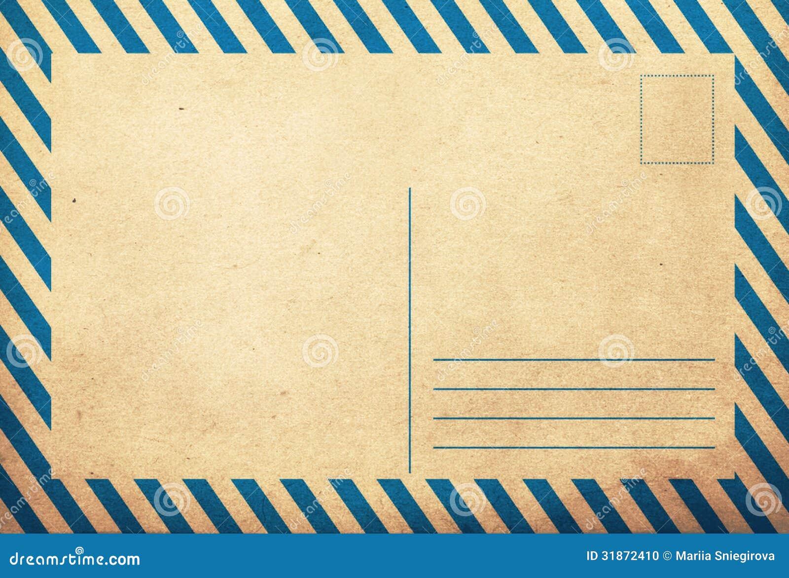 dos grunge de carte postale de vieux vintage photo stock image du beige illustration 31872410. Black Bedroom Furniture Sets. Home Design Ideas