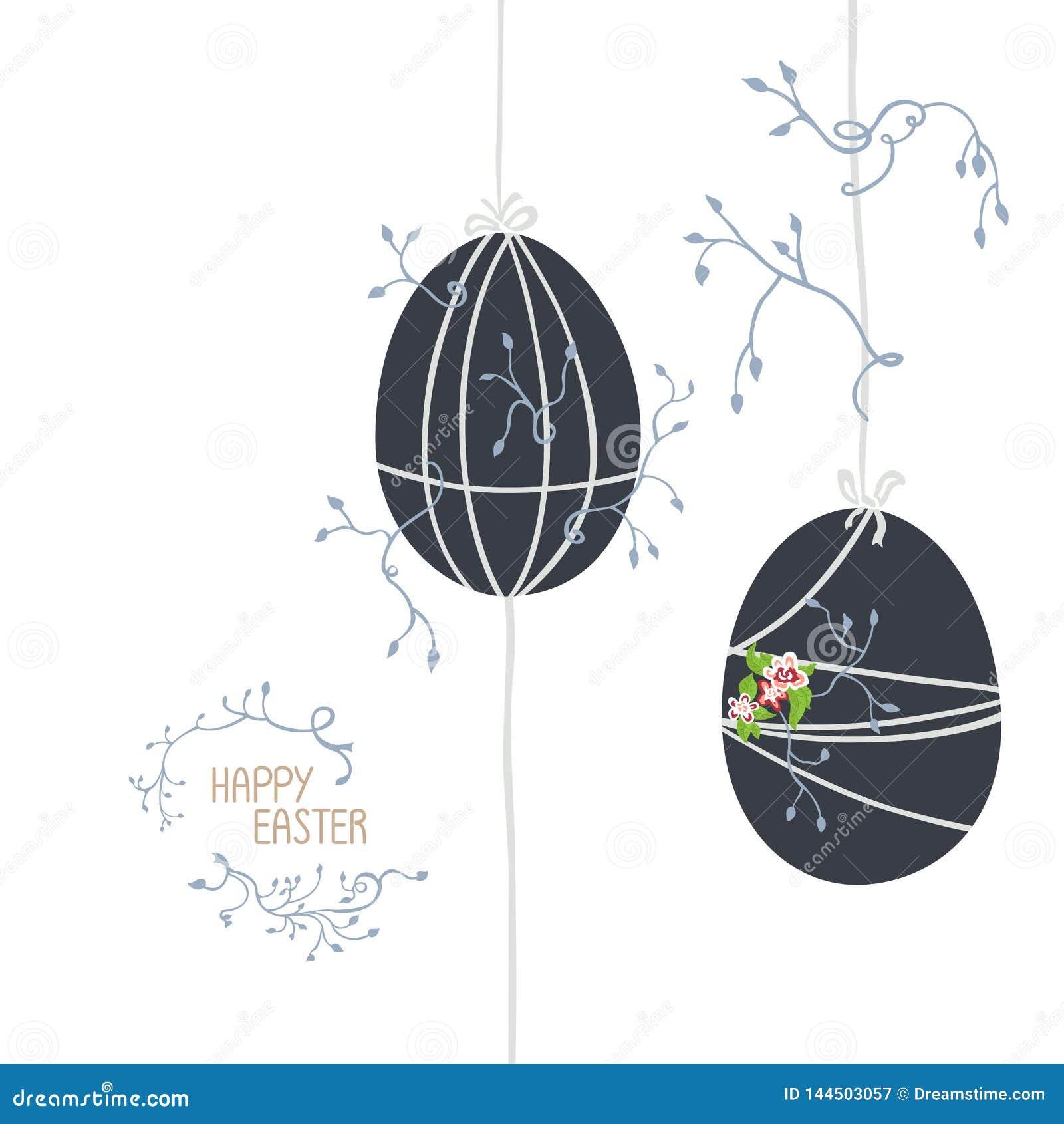 Dos huevos de Pascua en sombras frías