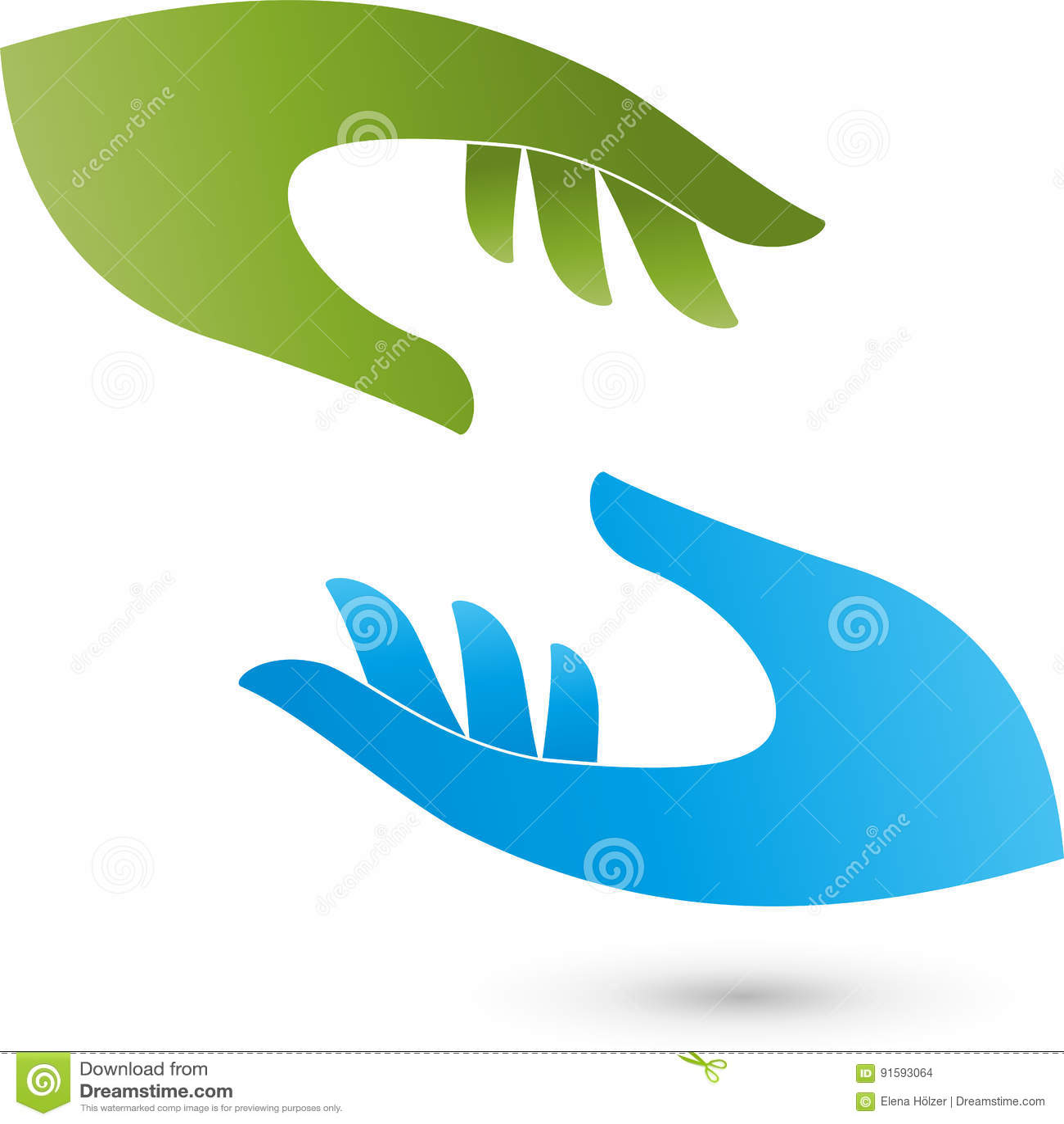 Dos Logotipos De Las Manos, Del Ayudante Y De La Medicina ...