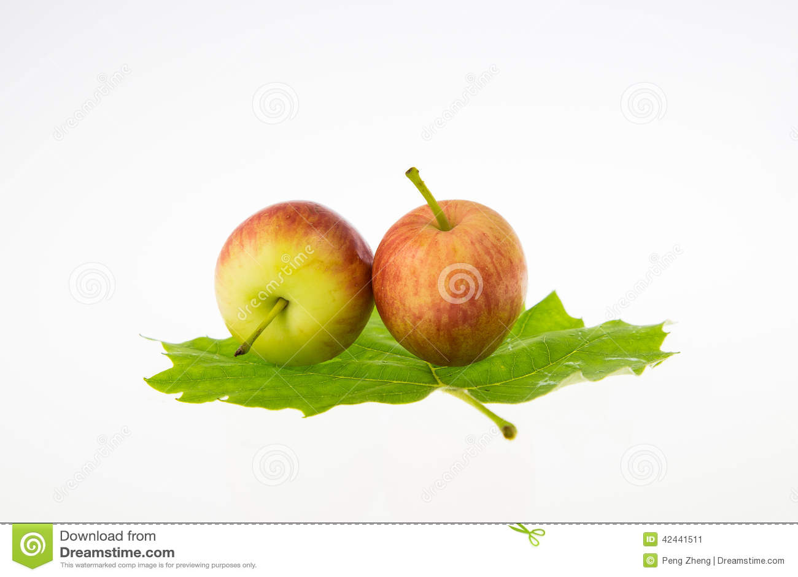 Dos manzanas minúsculas