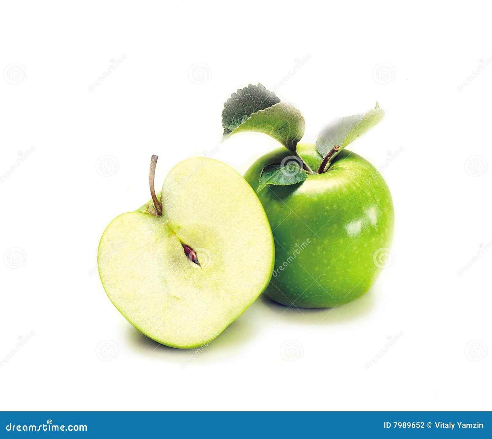 Dos manzanas verdes