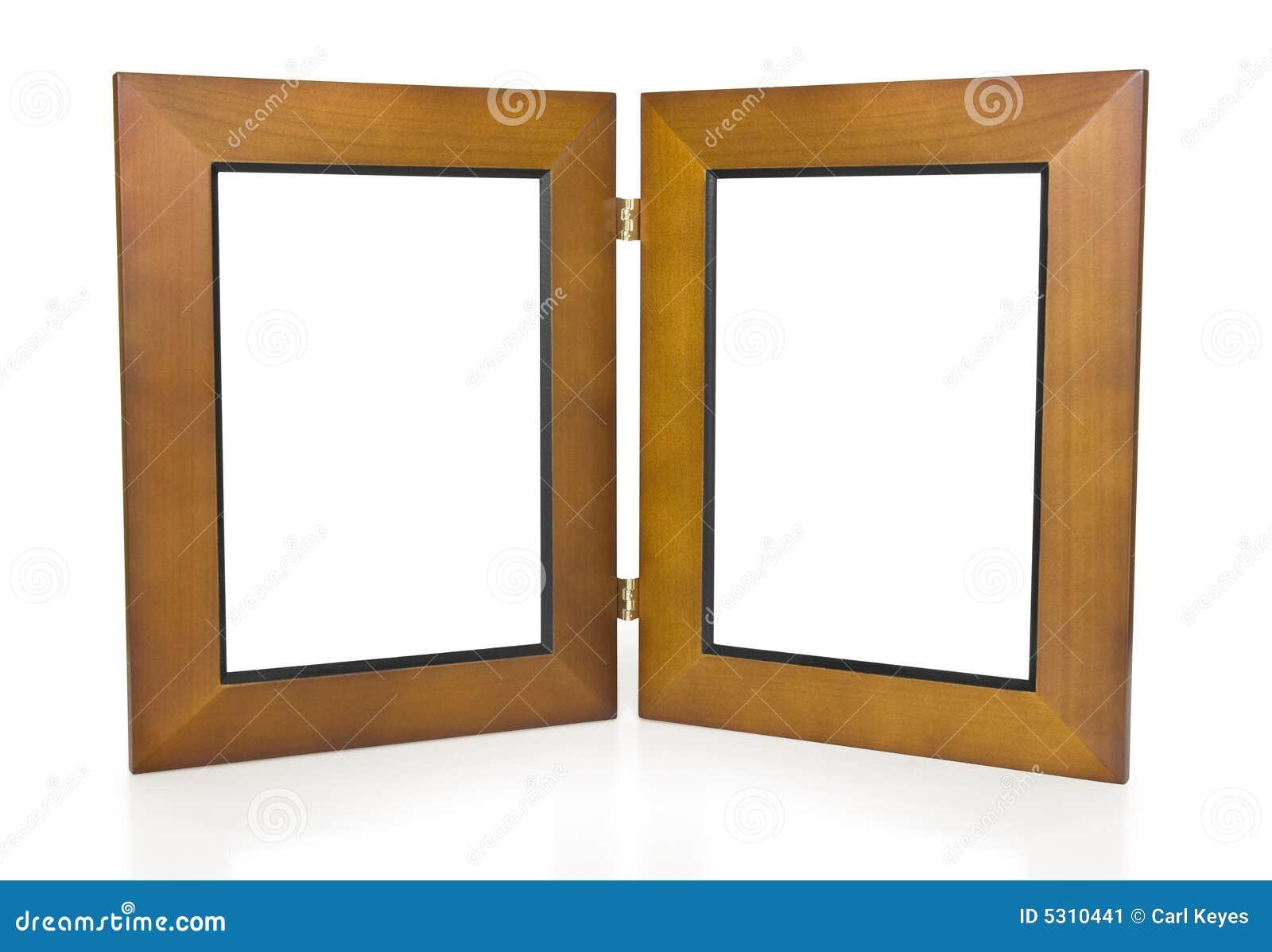 Dos marcos con bisagras de madera imagen de archivo - Bisagras para madera ...