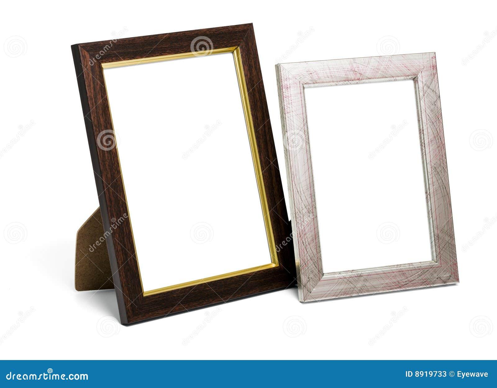 Dos marcos de escritorio imagen de archivo. Imagen de marco - 8919733