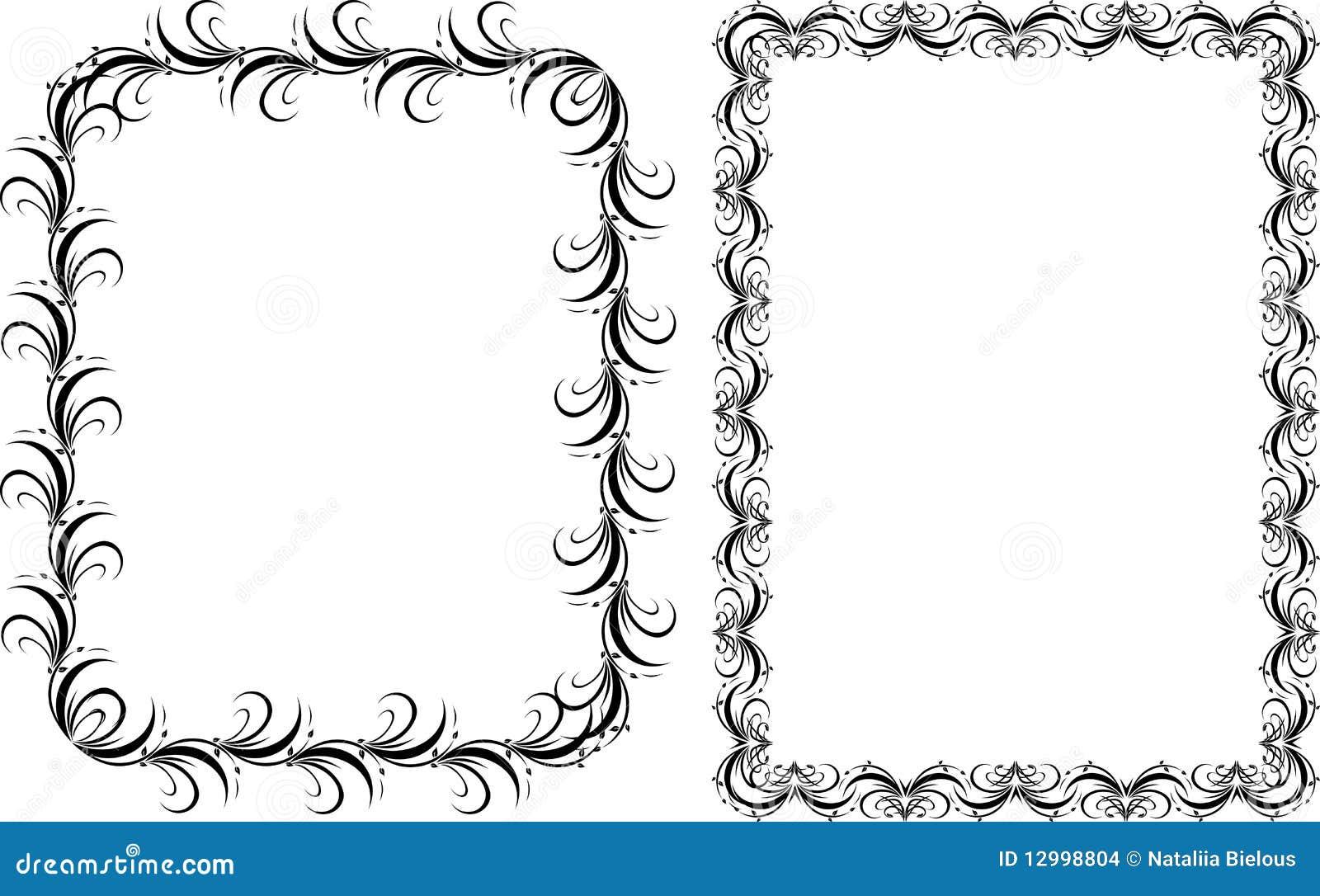 Dos marcos decorativos modelo imagenes de archivo - Marcos decorativos ...