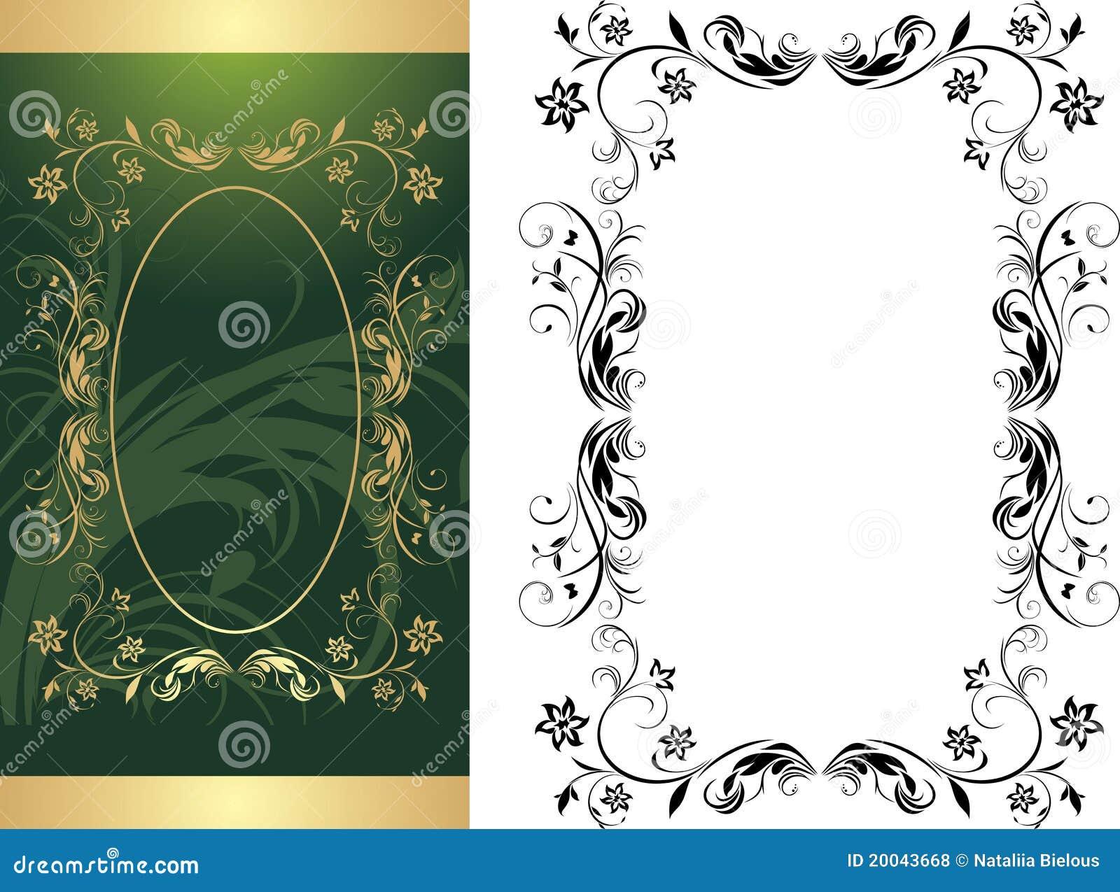 Dos marcos para el fondo decorativo ilustraci n del vector ilustraci n de artificial rococo - Marco de fotos multiple ...