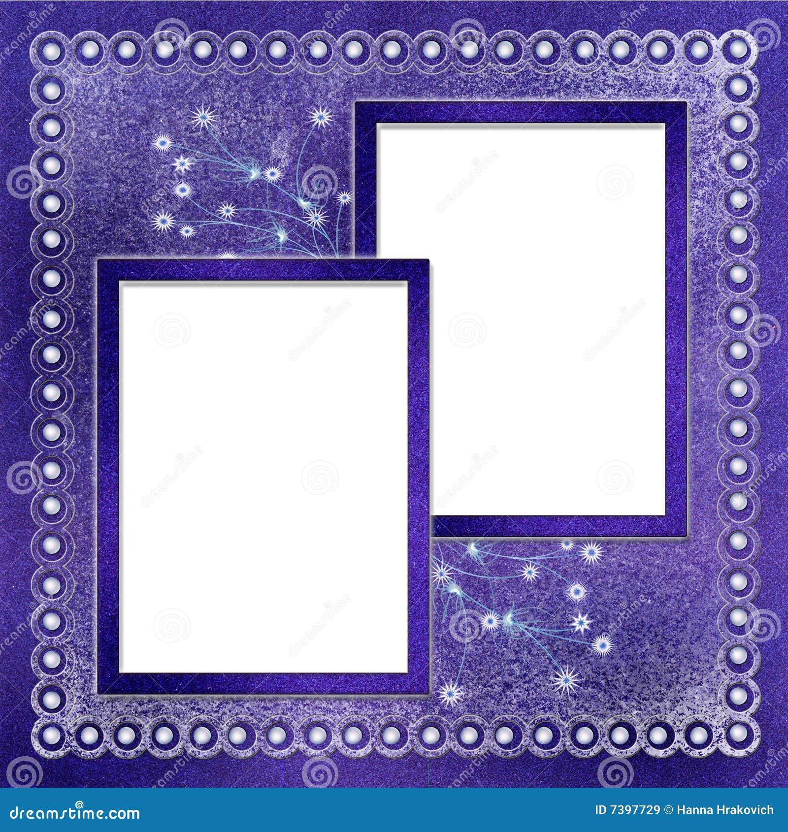 Dos marcos para la foto stock de ilustraci n ilustraci n de oscuro 7397729 - Marco fotos pared ...