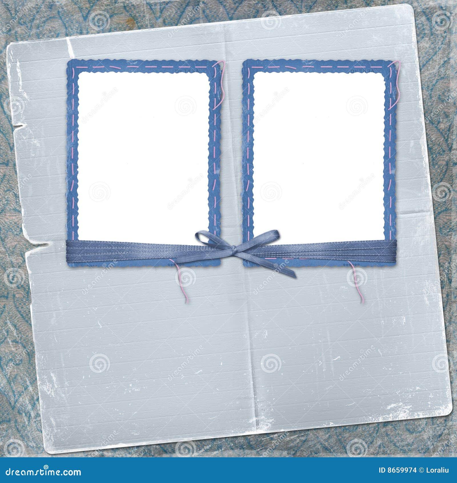 Dos marcos para la foto con el arqueamiento y la cinta - Marcos para fotos baratos ...