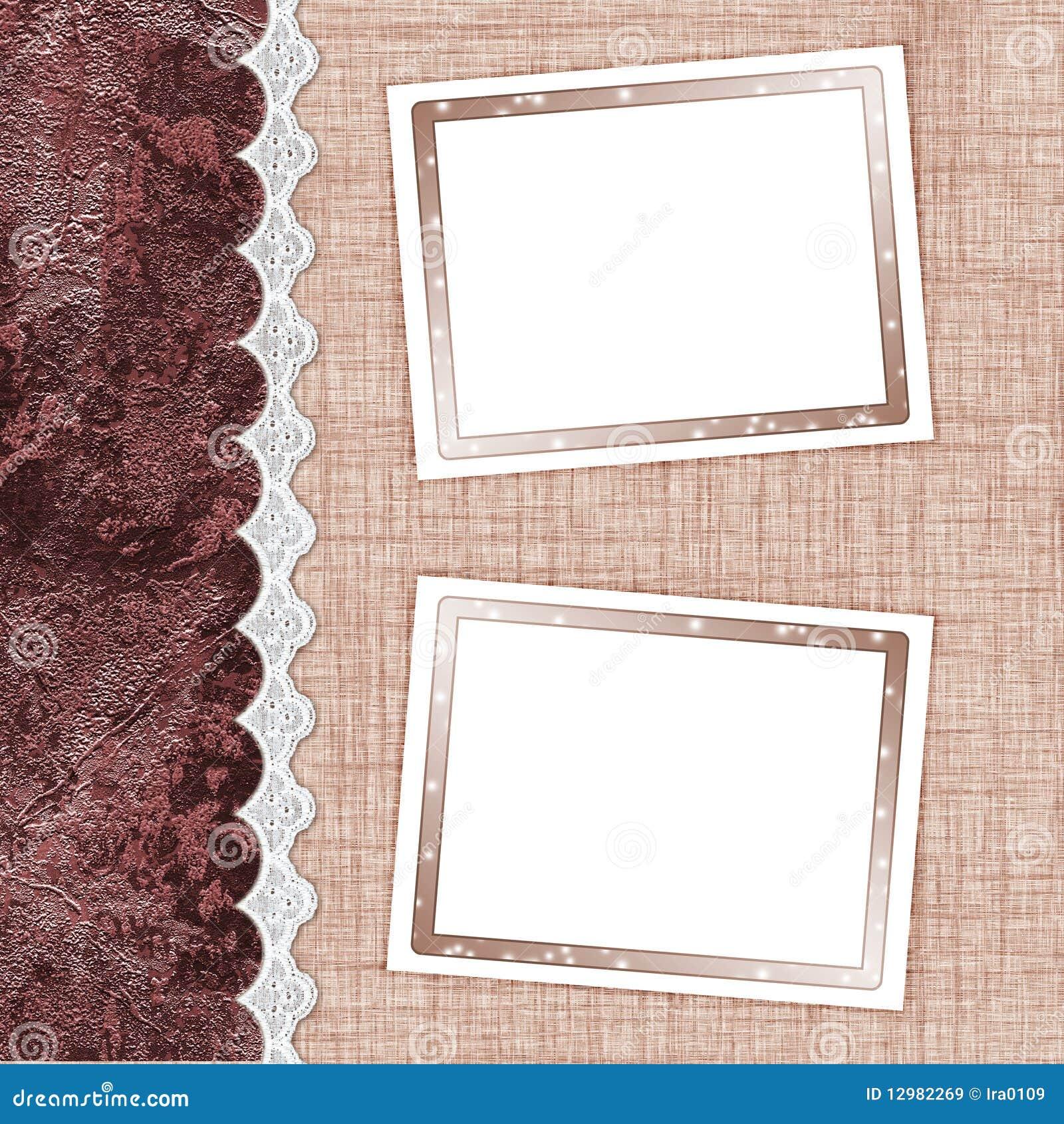 Dos marcos para las fotos stock de ilustraci n imagen de - Diy marcos para fotos ...