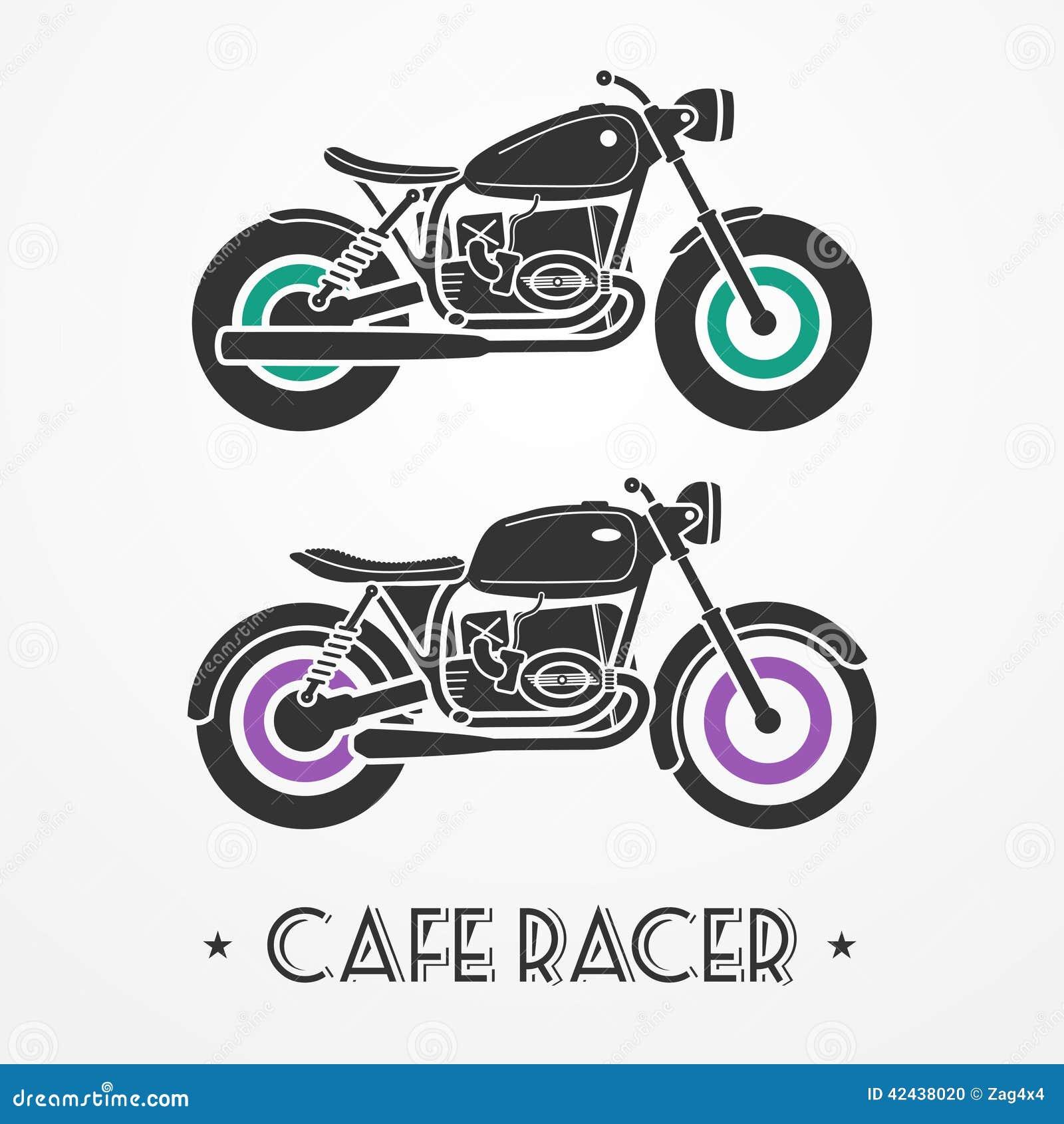 Dos motocicletas retras