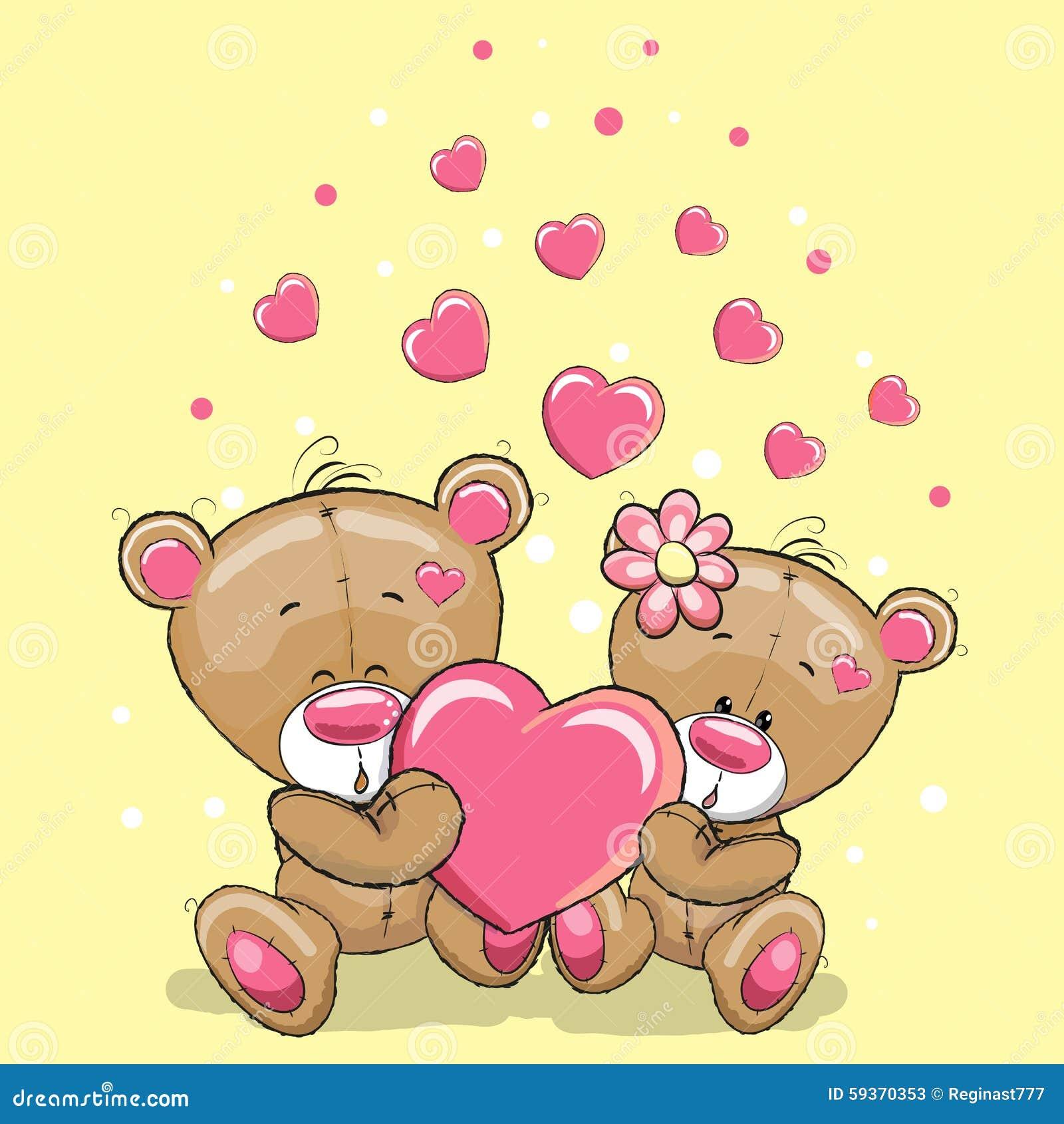 Dos osos con el corazón