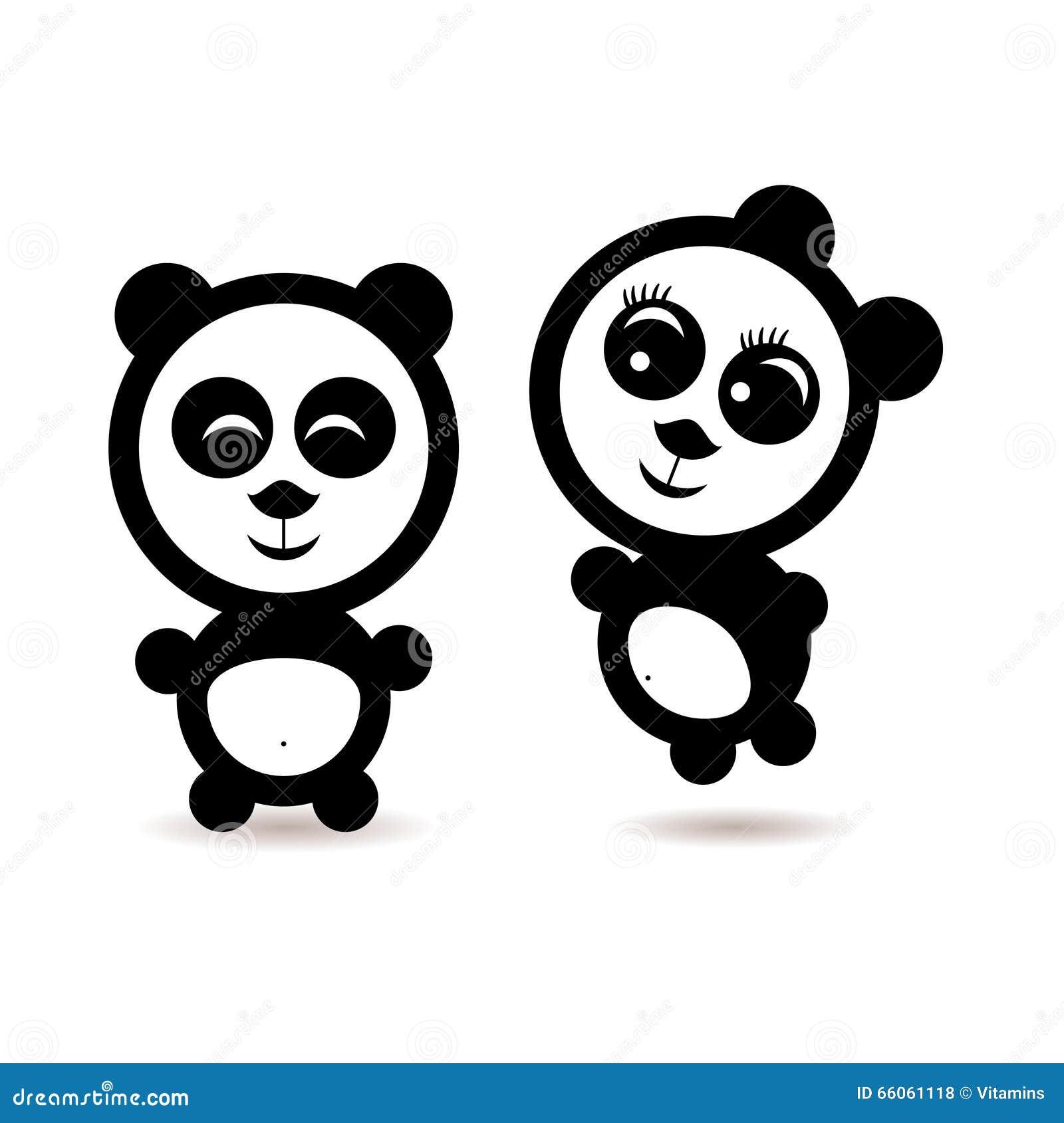 Dos pocos amantes de la panda de la historieta