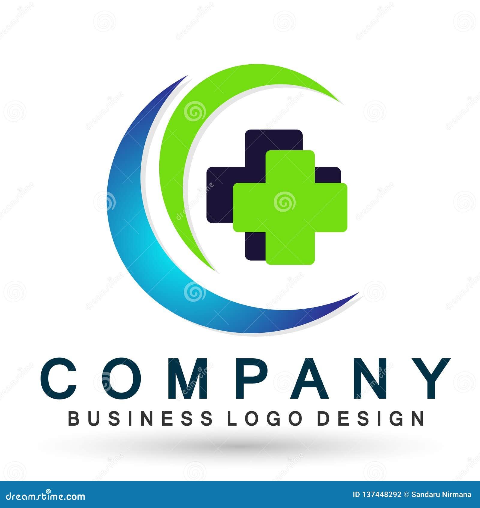 Dos povos transversais médicos dos cuidados médicos do globo ícone saudável do projeto do logotipo dos cuidados paliativos no fun